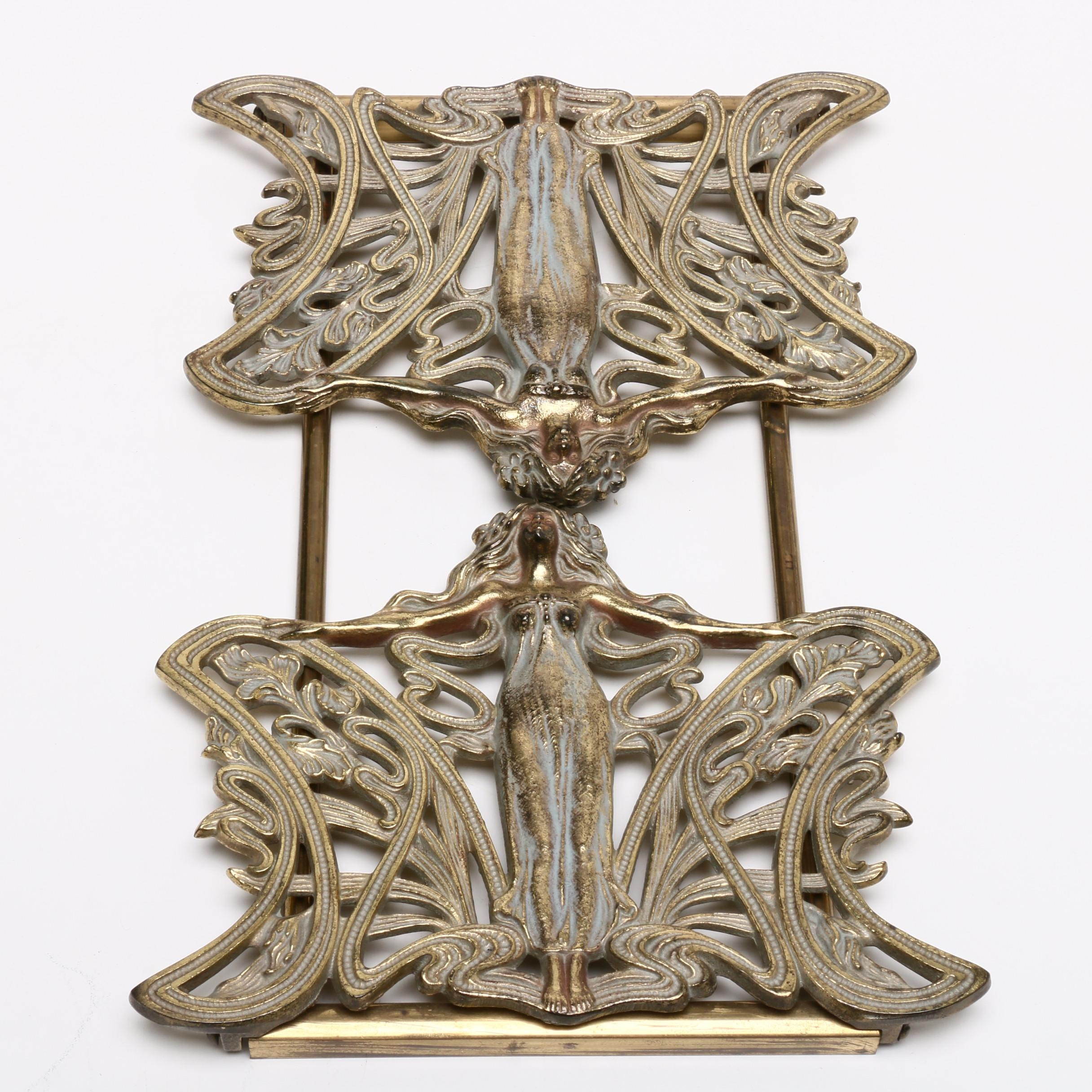 Art Nouveau Style Expandable Book Rack, Mid to Late 20th Century
