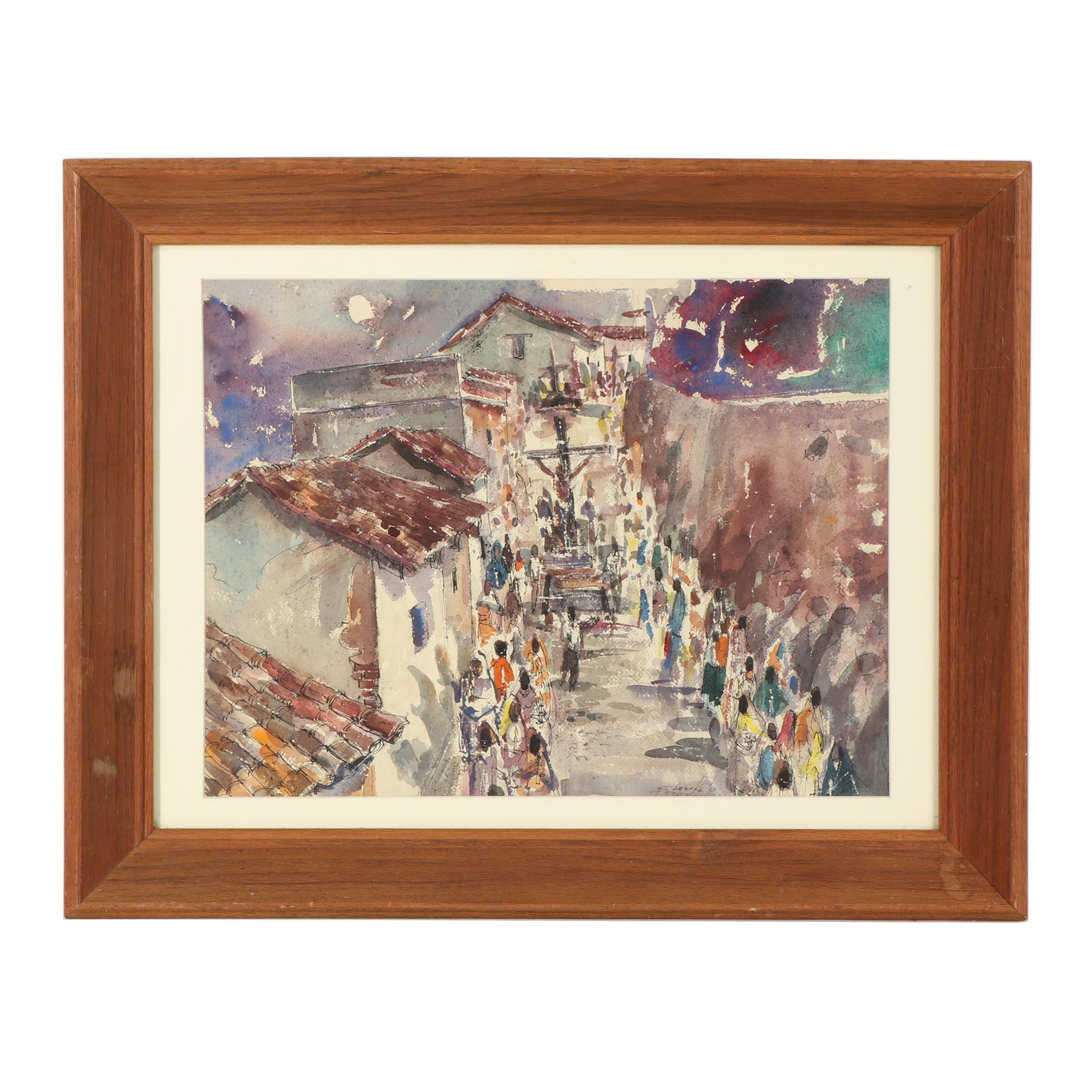 William Benecke Watercolor Painting