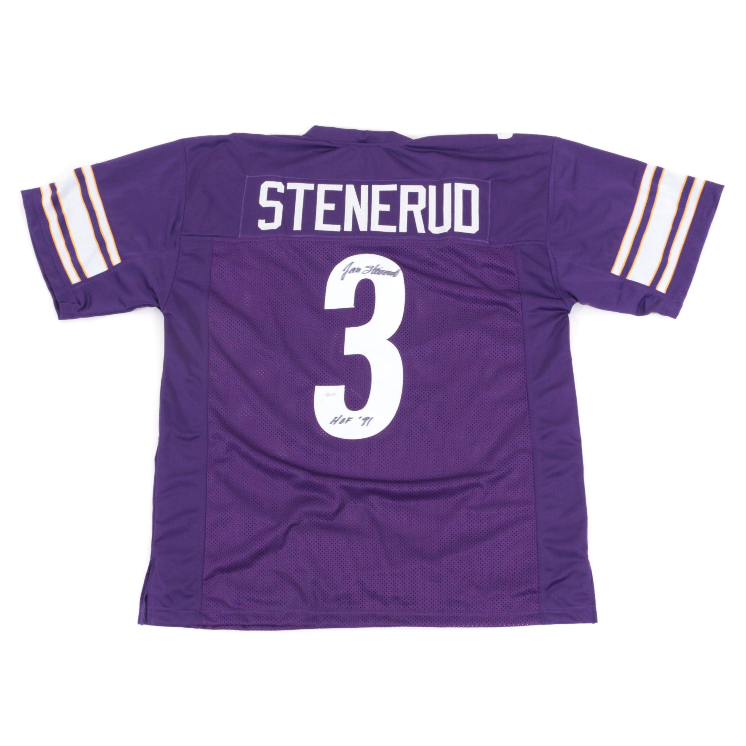 Jan Stenerud Signed Minnesota Vikings Replica Jersey  COA