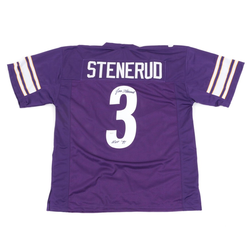 the best attitude a7c60 4266d Jan Stenerud Signed Minnesota Vikings Replica Jersey COA ...