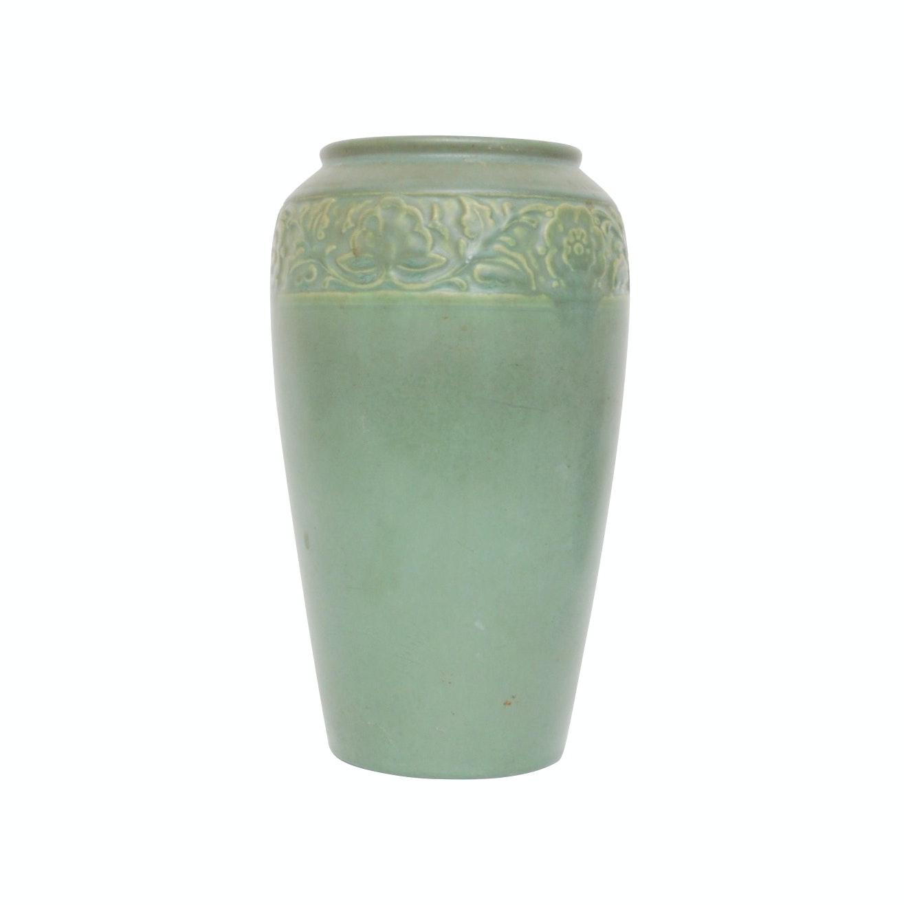 Rookwood Pottery Embossed Vase, 1928