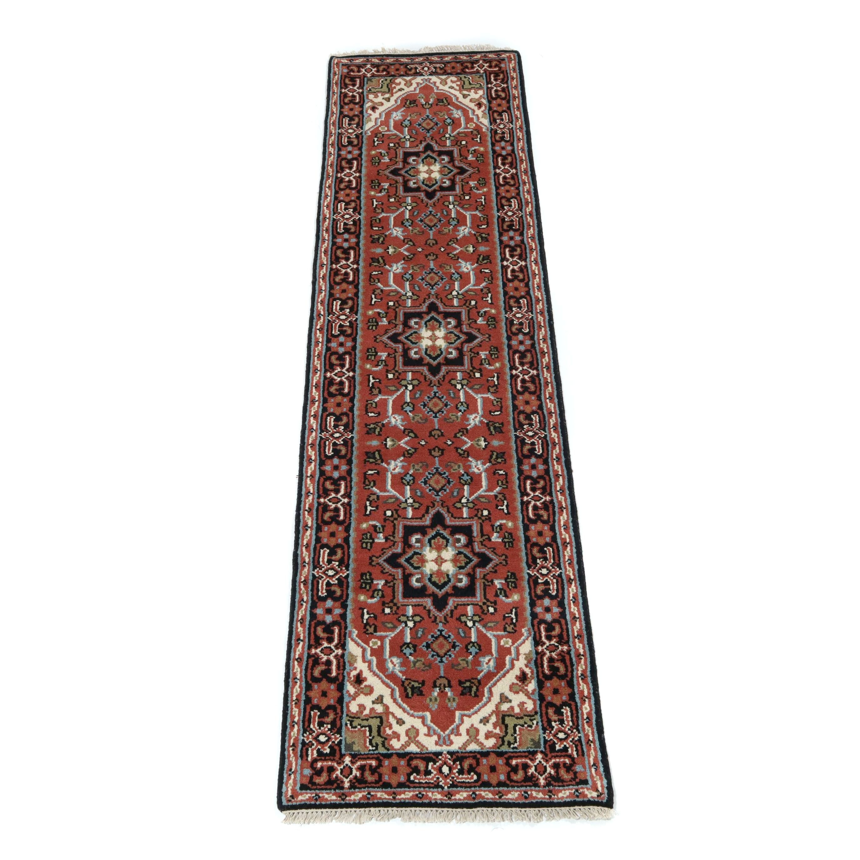 2.6' x 9.11' Hand-Knotted Indo-Persian Heriz Carpet Runner