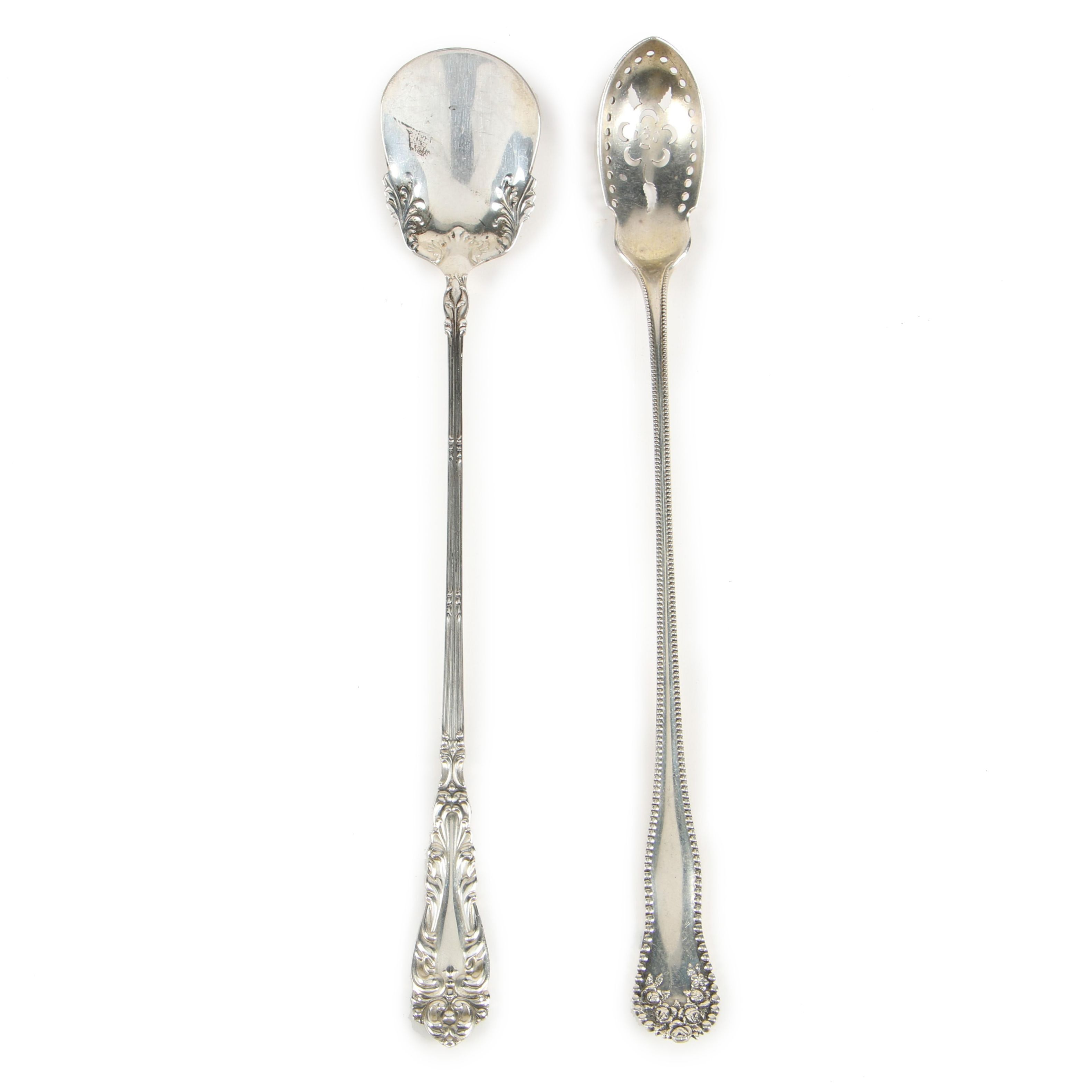"Gorham ""Lancaster"" Olive Spoon and Amston ""Crescendo"" Condiment Spoon"