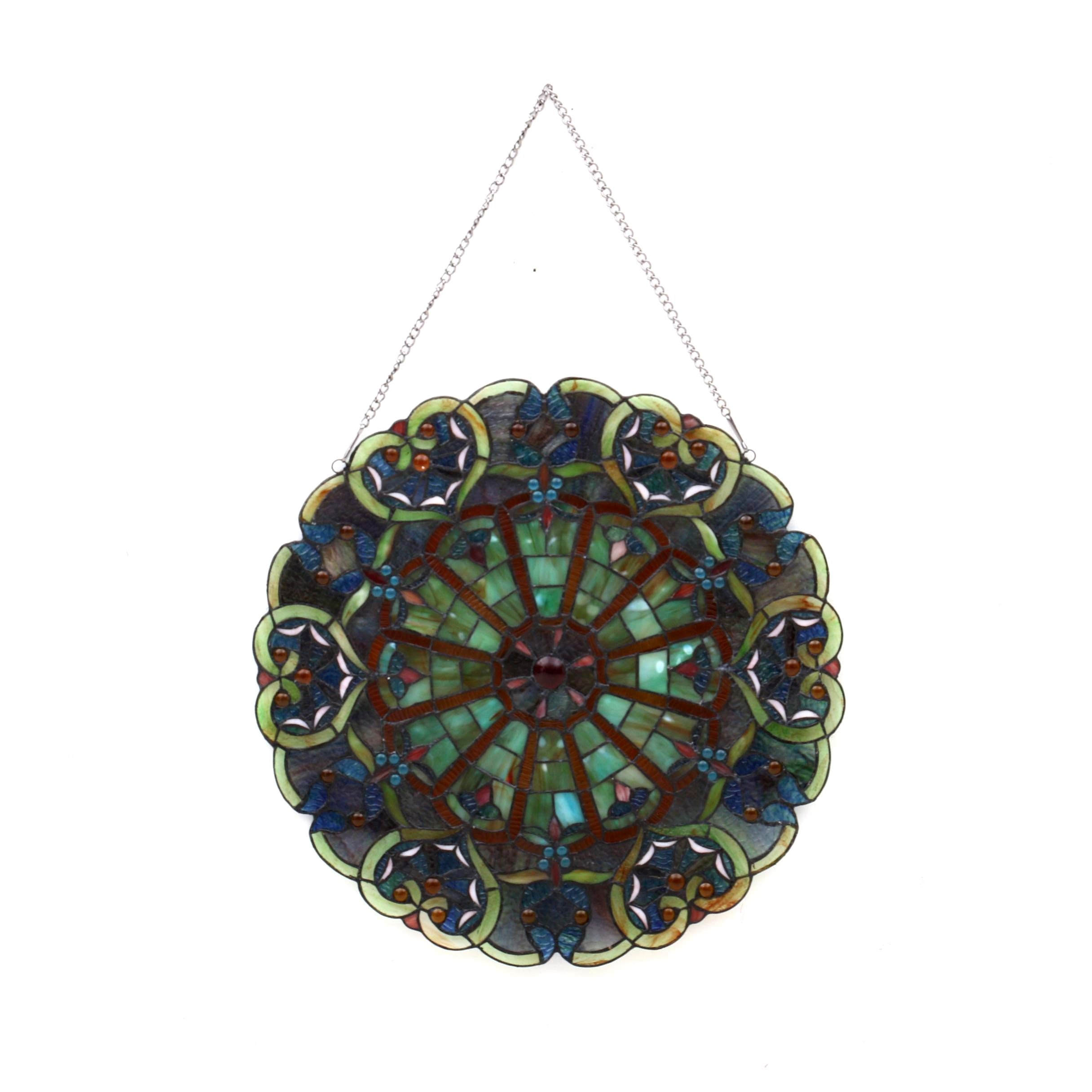 Round Stained Glass Window Hanging