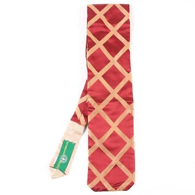 Sterling-Scott Collection Handcrafted Green Label Numbered Silk Hybrid Necktie