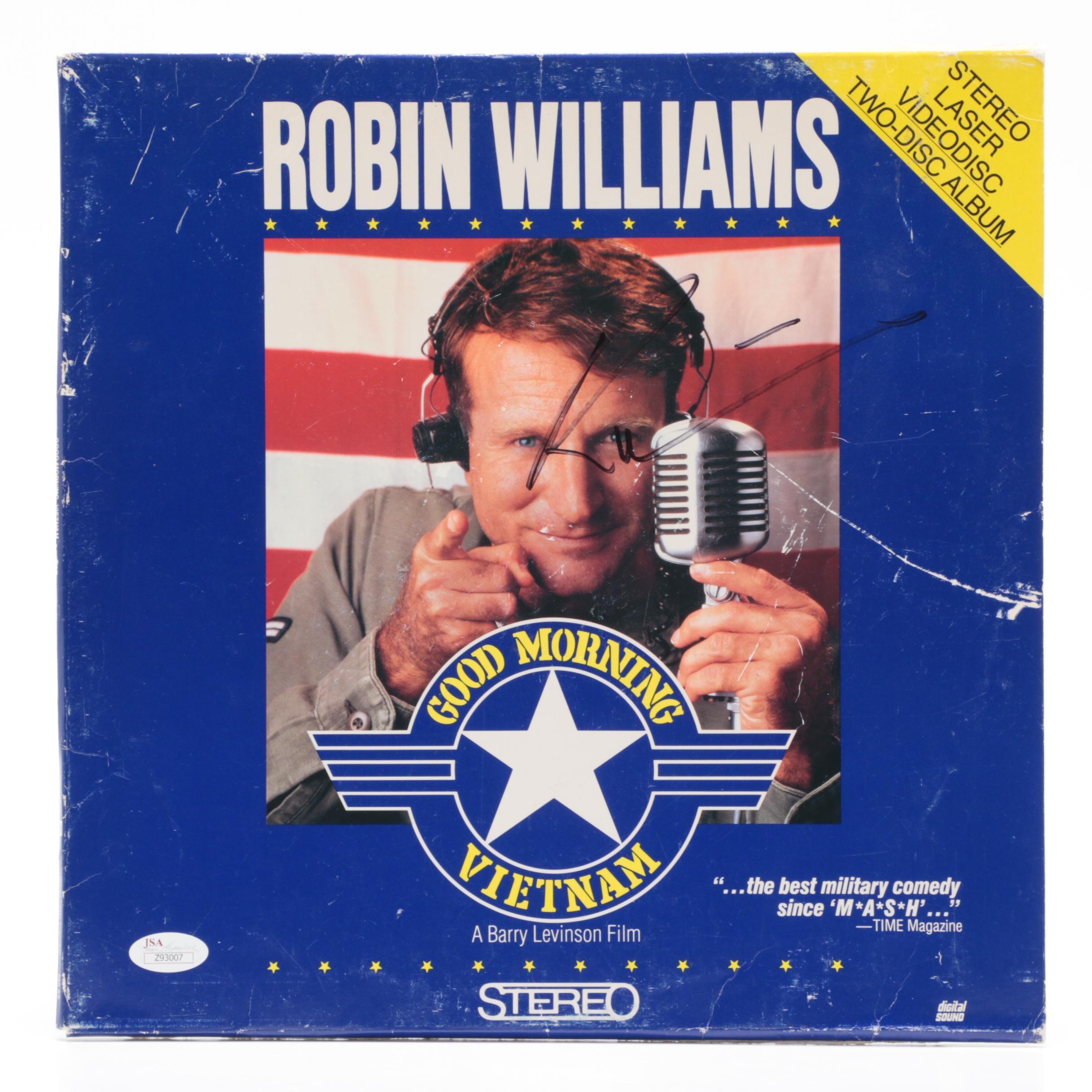 "Robin Williams Signed ""Good Morning Vietnam"" Disc Album Cover   COA"
