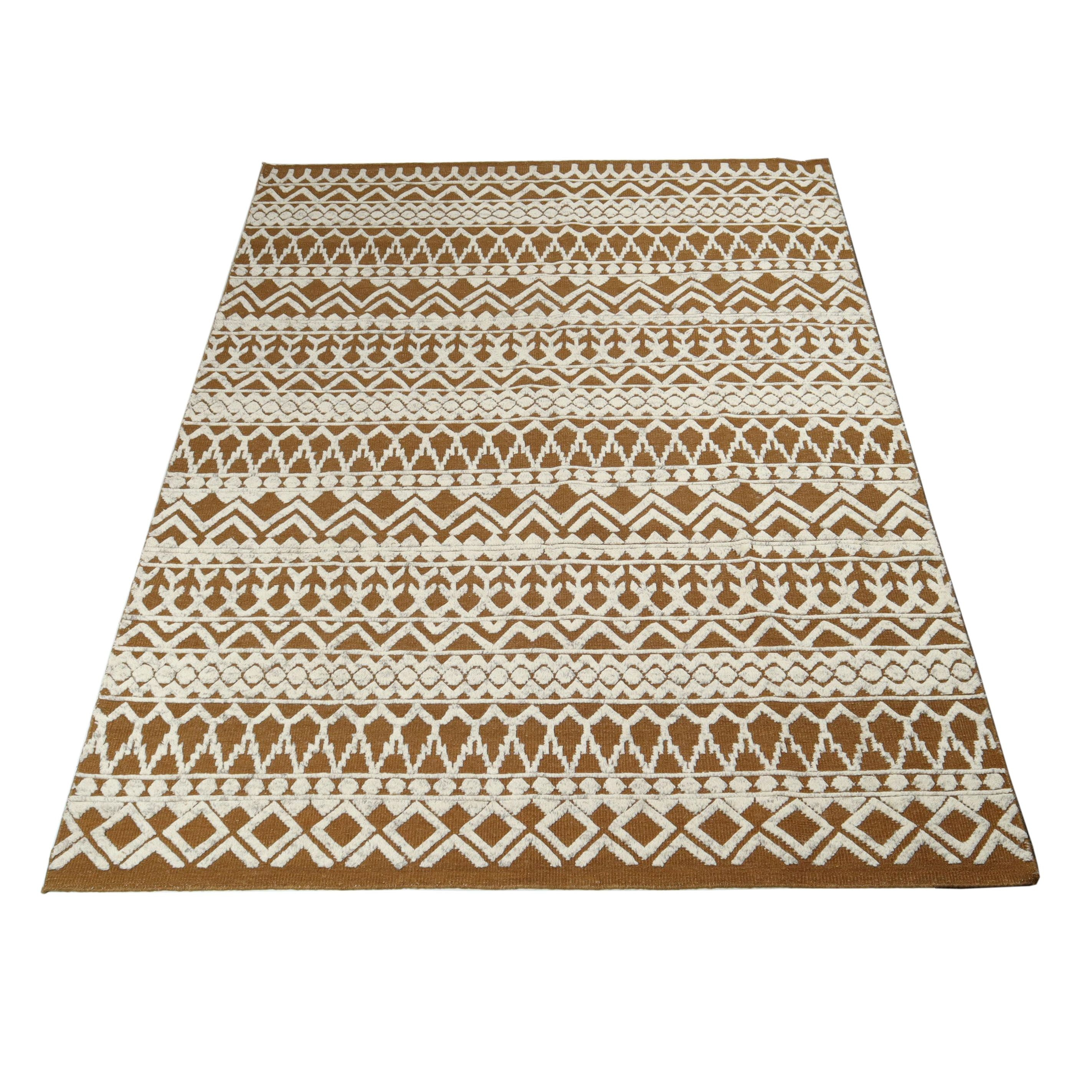 8.2' x 10.7' Handwoven Indo-Moroccan Mid Century Modern Wool Rug