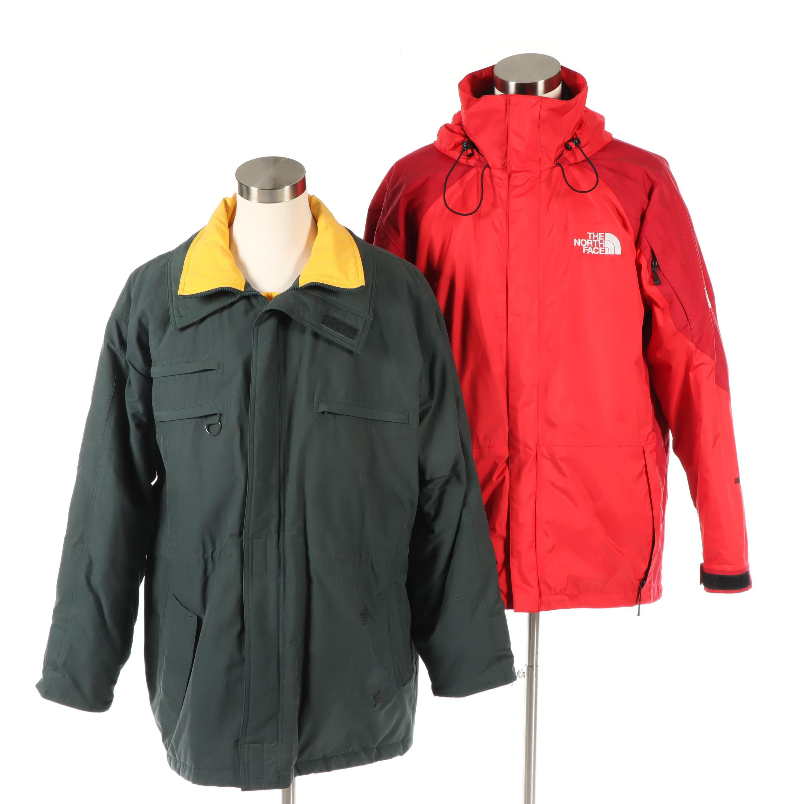 Men's Brooks Brothers and The North Face Summit Series Winter Coats
