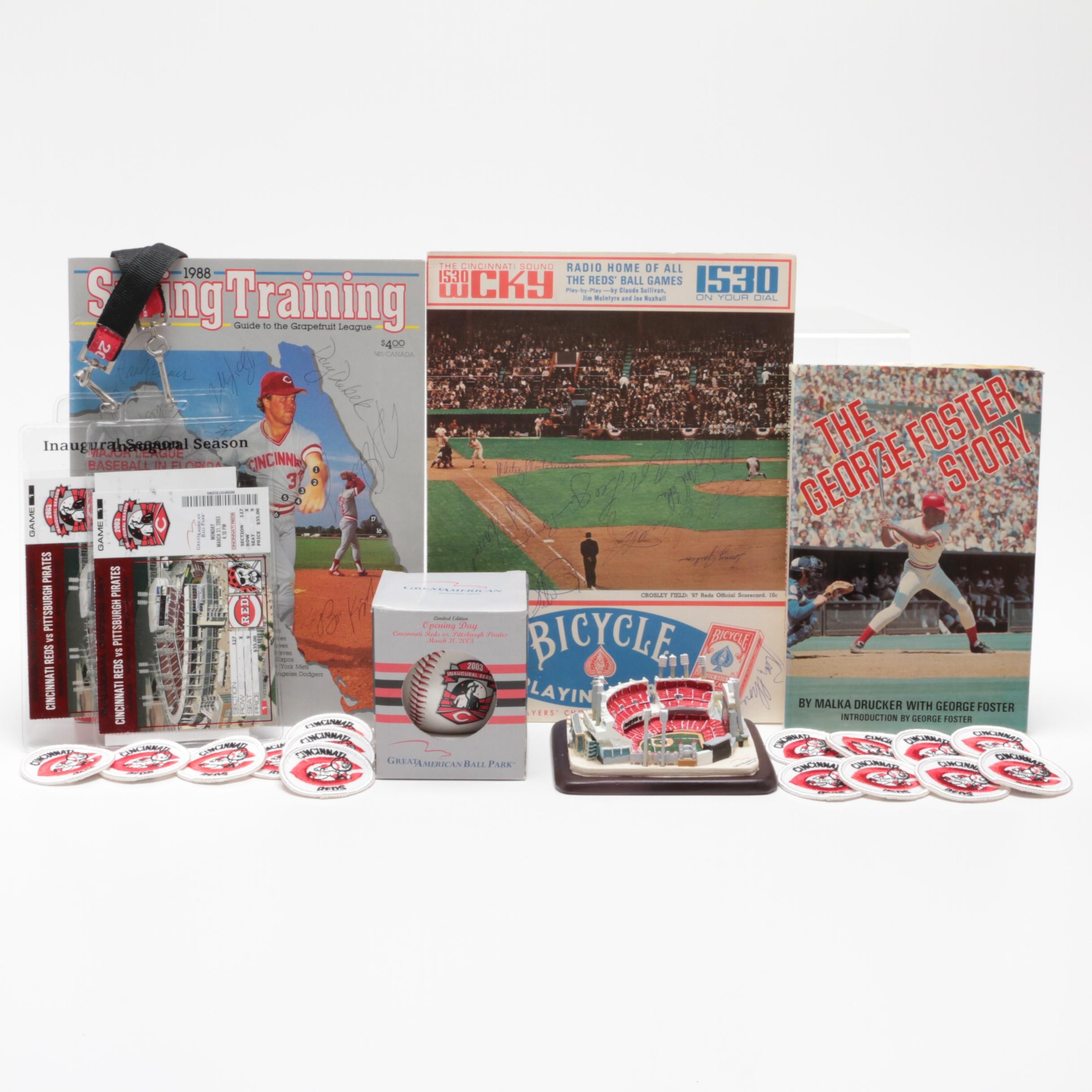Selection of Cincinnati Reds Signed Items and Souvenirs