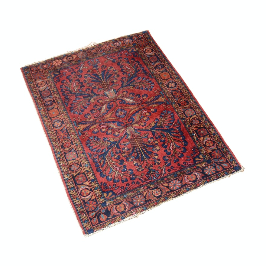 Hand-Knotted Persian Lilihan Wool Rug