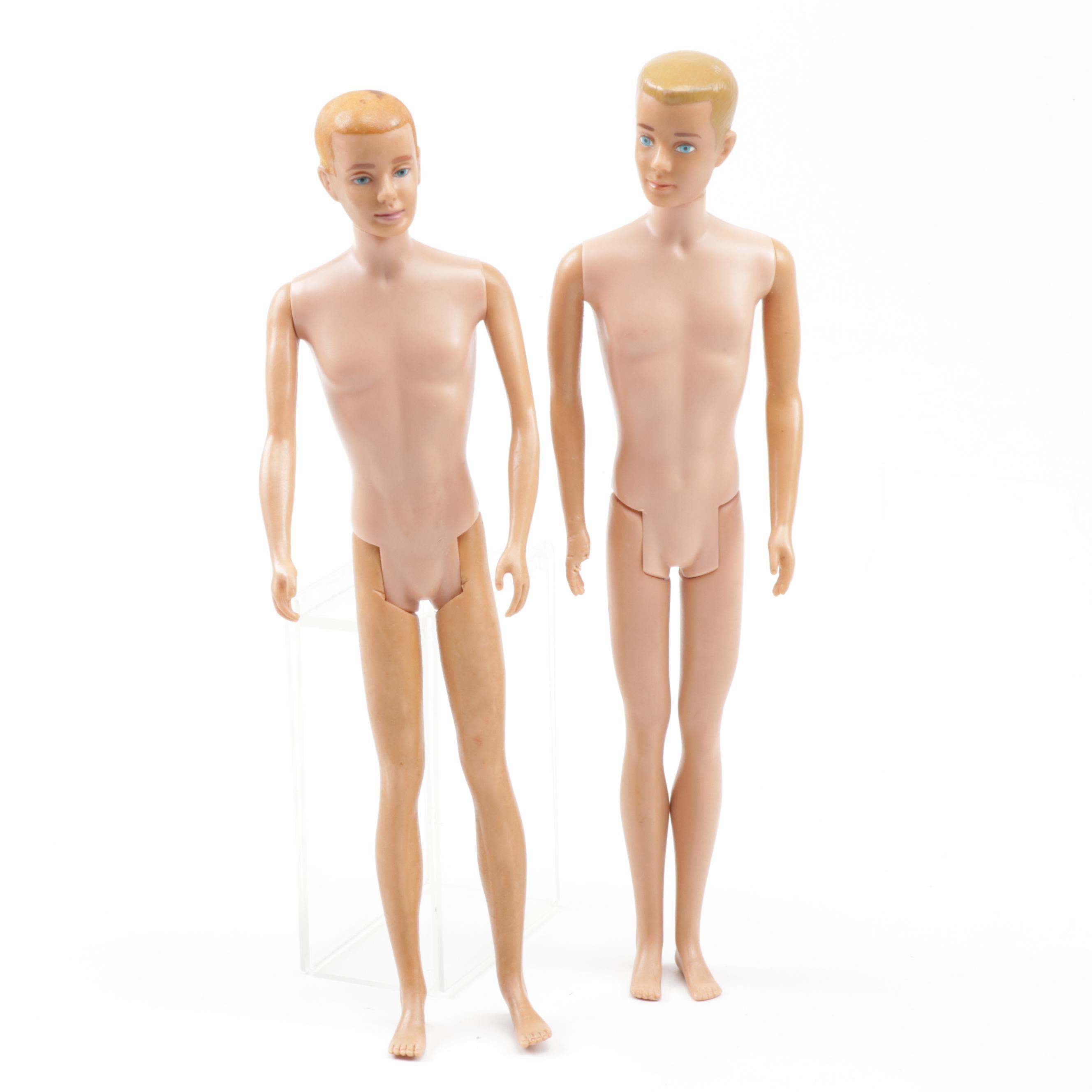"1960s Ken Dolls with 1961 ""Flocked Hair"" Ken"