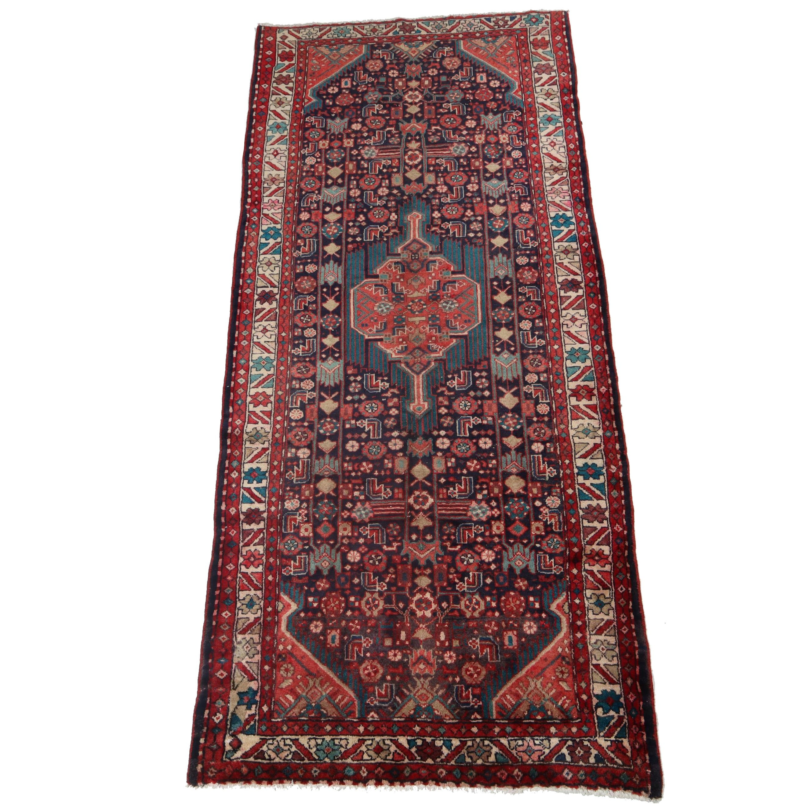 4.4' x 9.9' Hand-Knotted Persian Northwest Carpet Runner, Circa 1940s