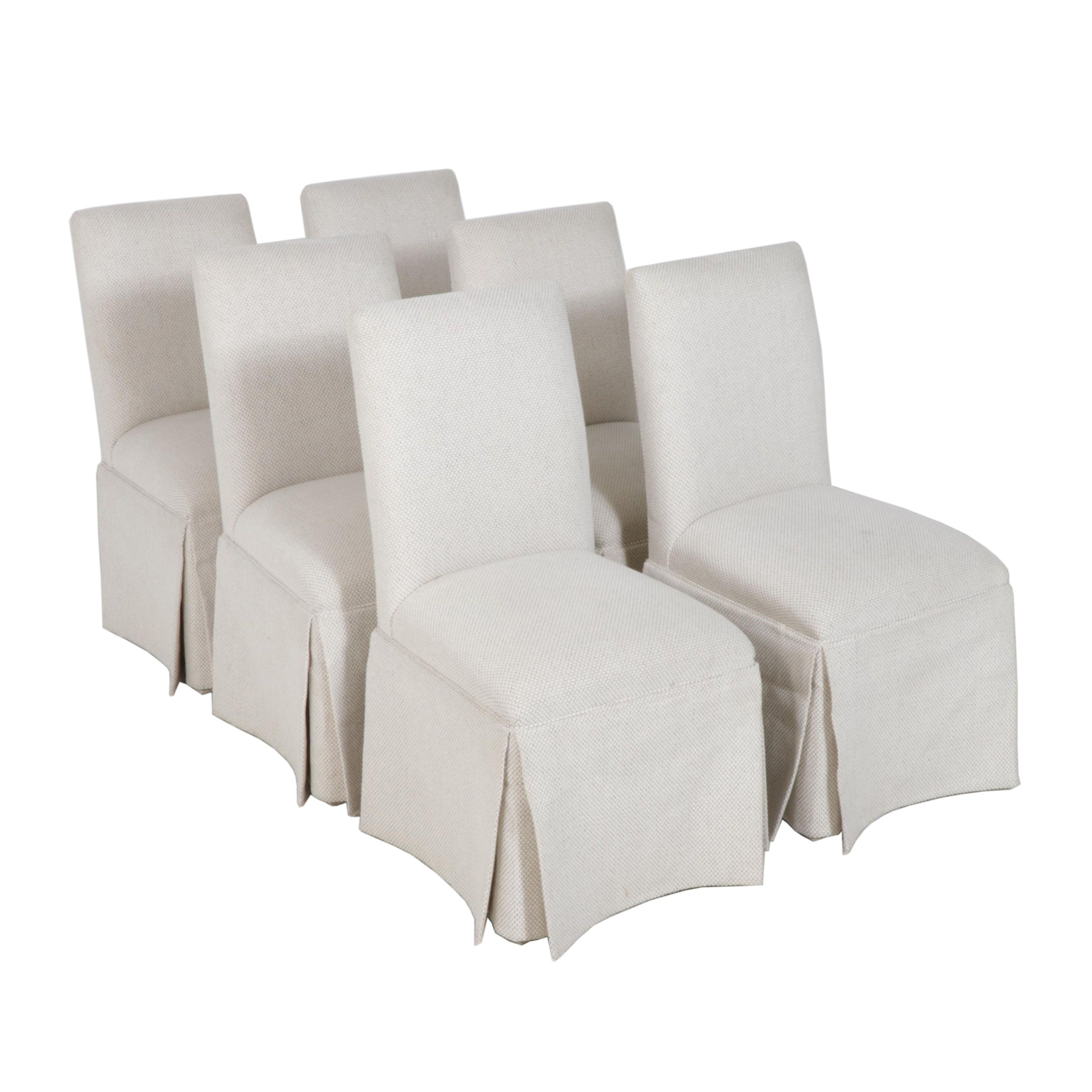 Contemporary Upholstered Banquet Style Dining Chairs