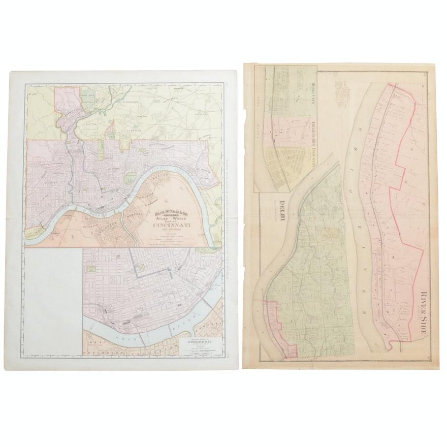 Cincinnati and Delhi Maps