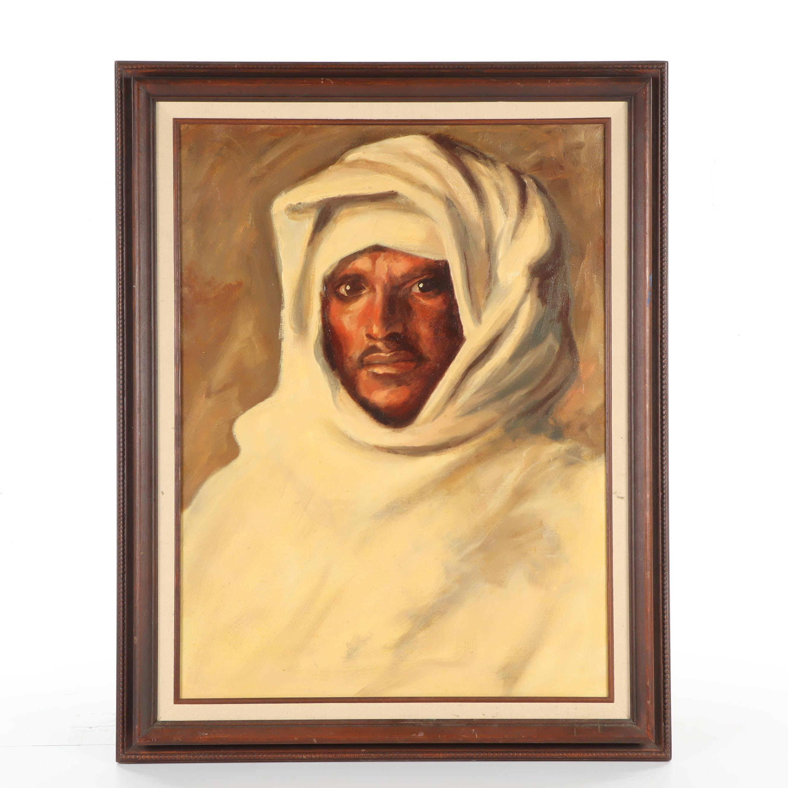 """George Klein Copy Oil Painting after John Signer Sargent """"A Bedouin Arab"""""""