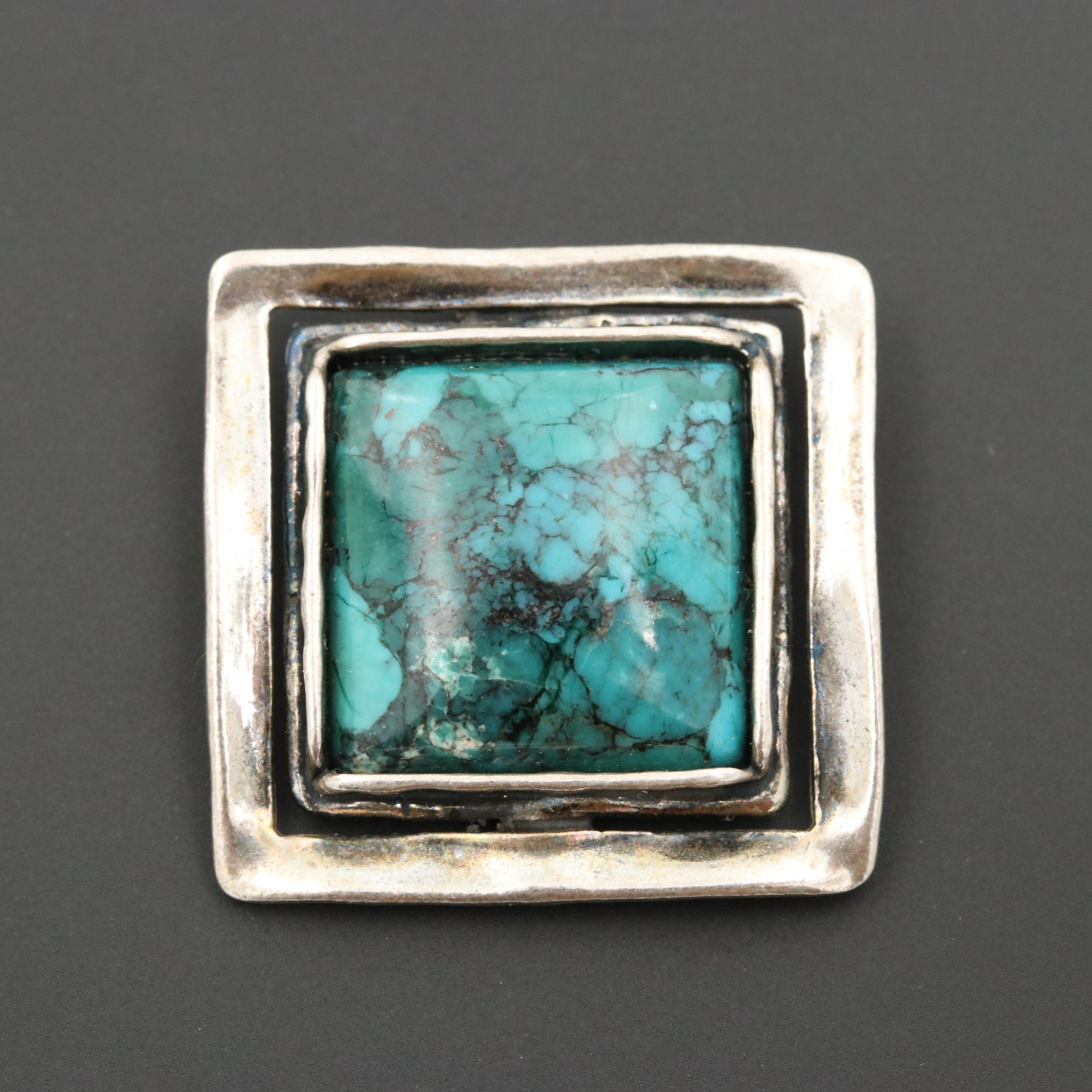 Silpada Sterling Silver Turquoise Pendant