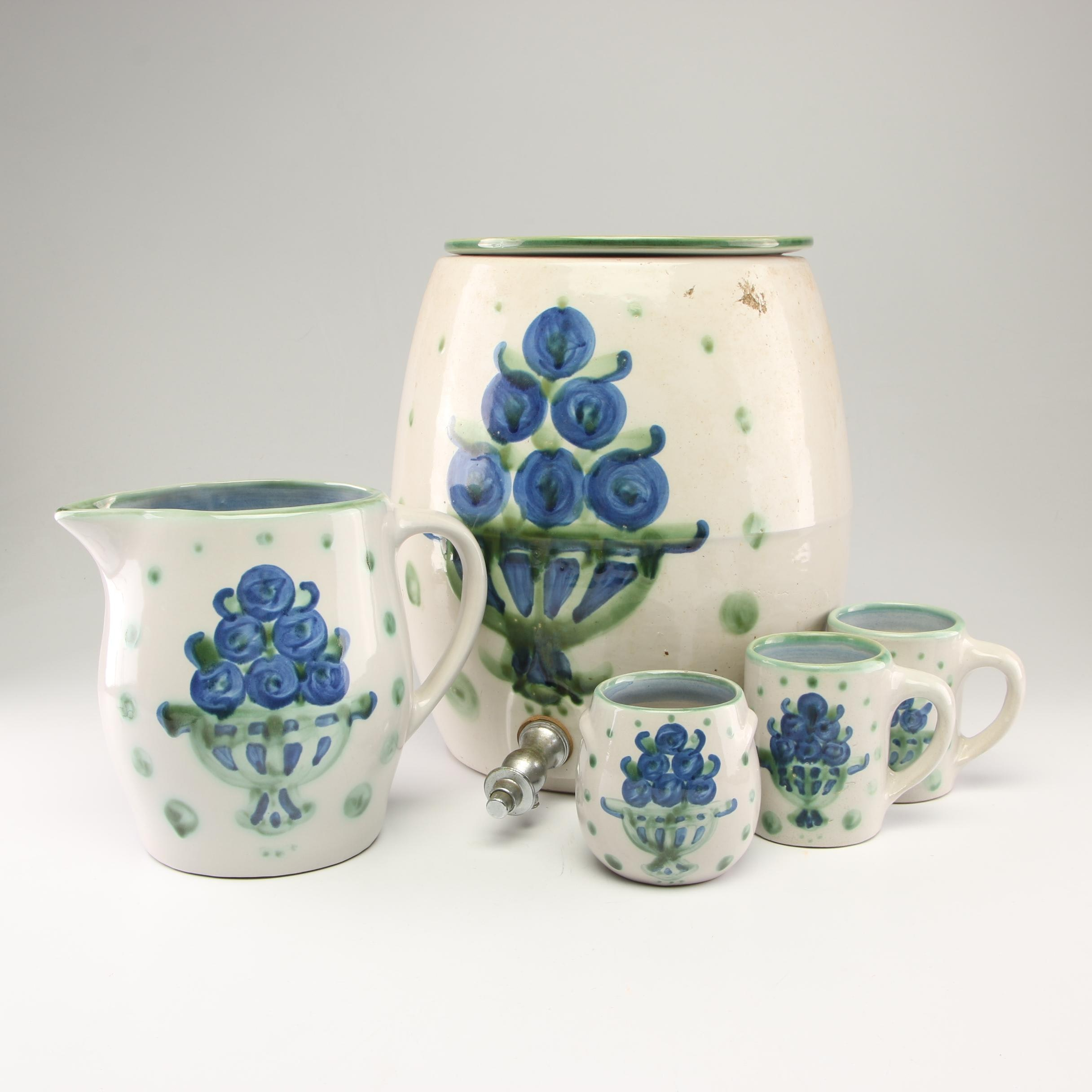 "M.A. Hadley ""Bouquet"" Stoneware Beverage Collection"