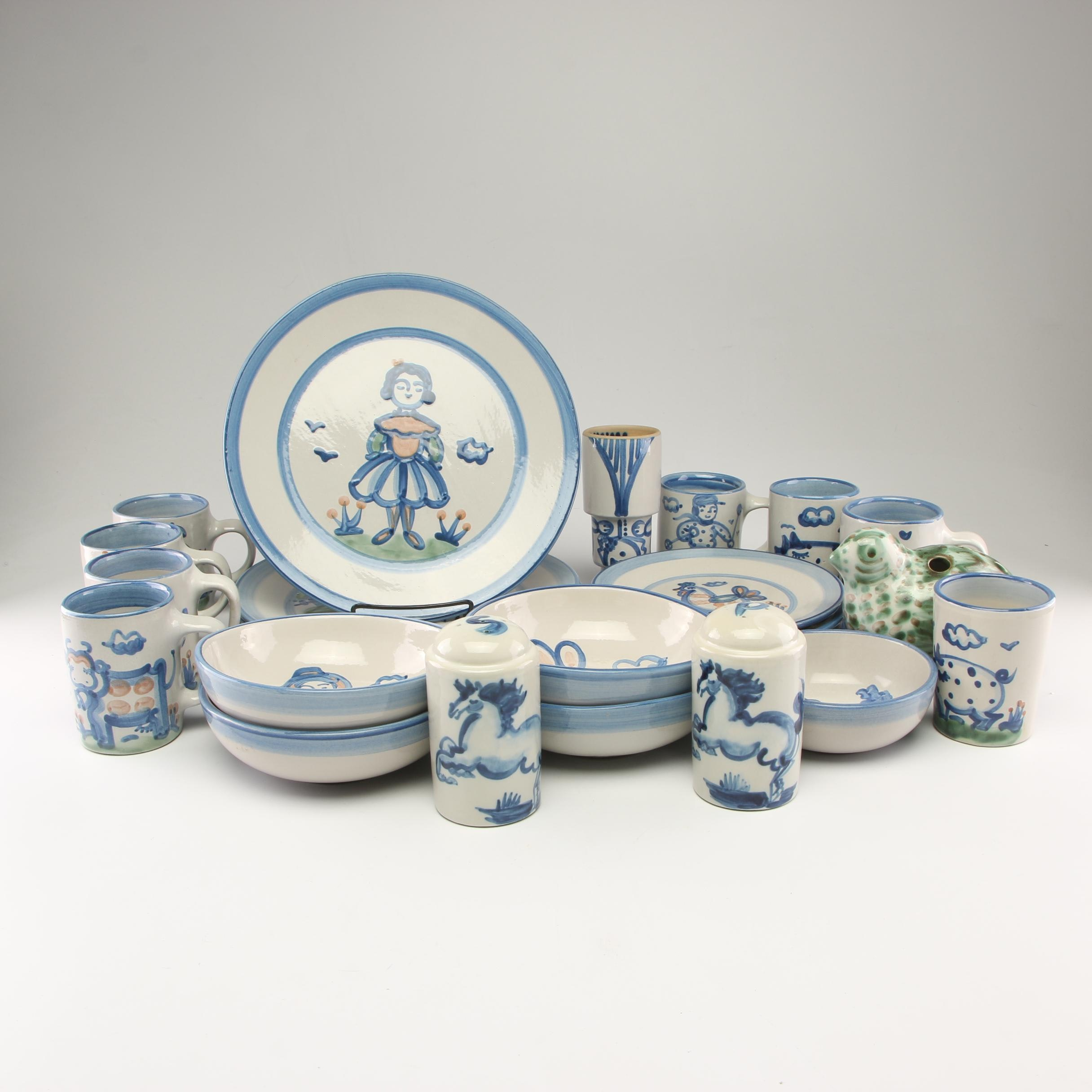 "M.A. Hadley Pottery ""Country"" Stoneware Dinnerware"