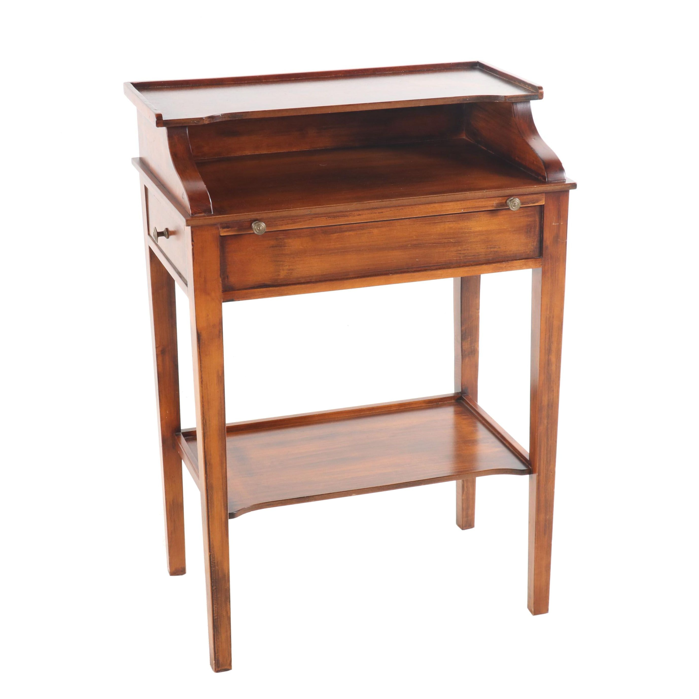 Sareid, Ltd. Painted Wooden Side Table, Late 20th Century
