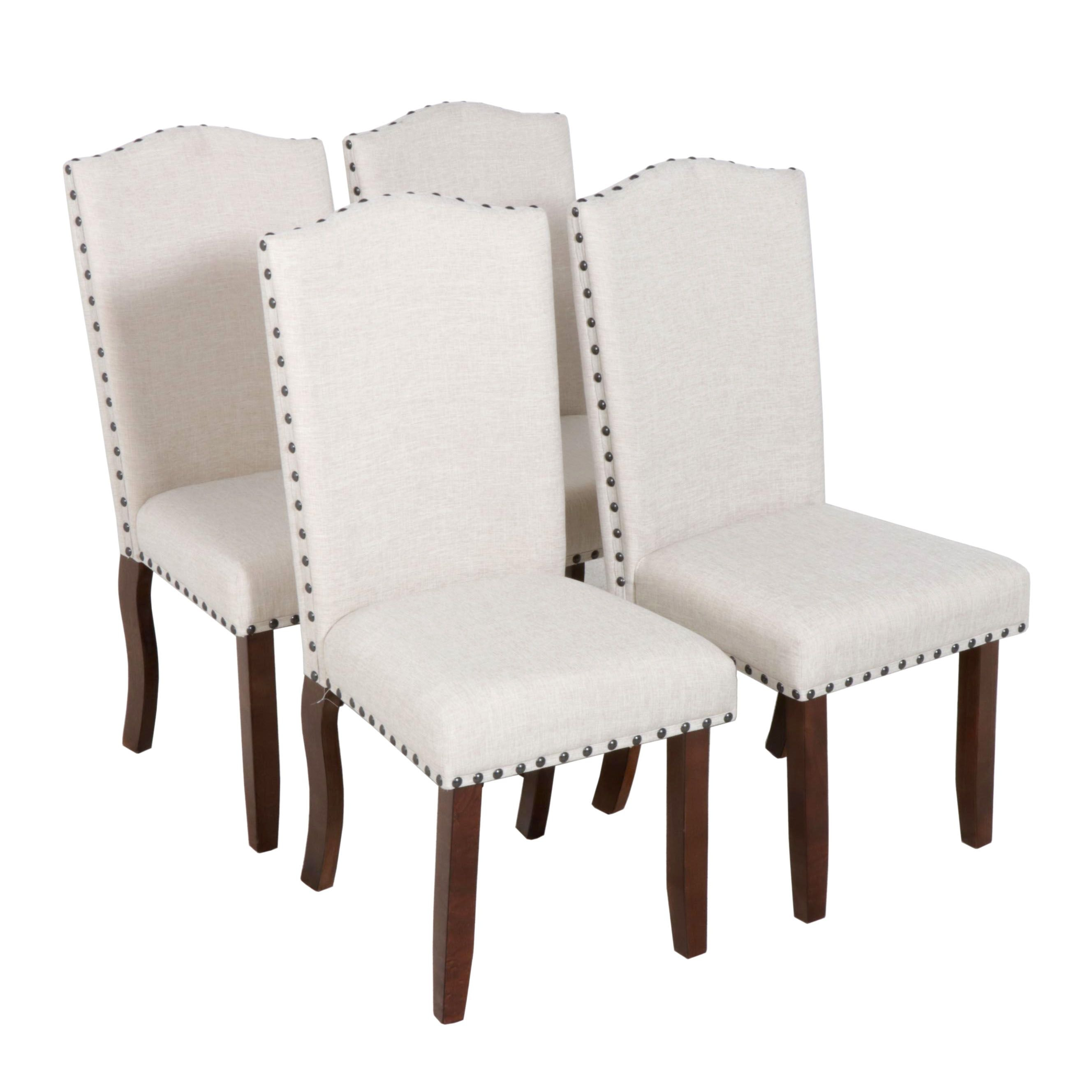 Four Contemporary Upholstered Dining Chairs