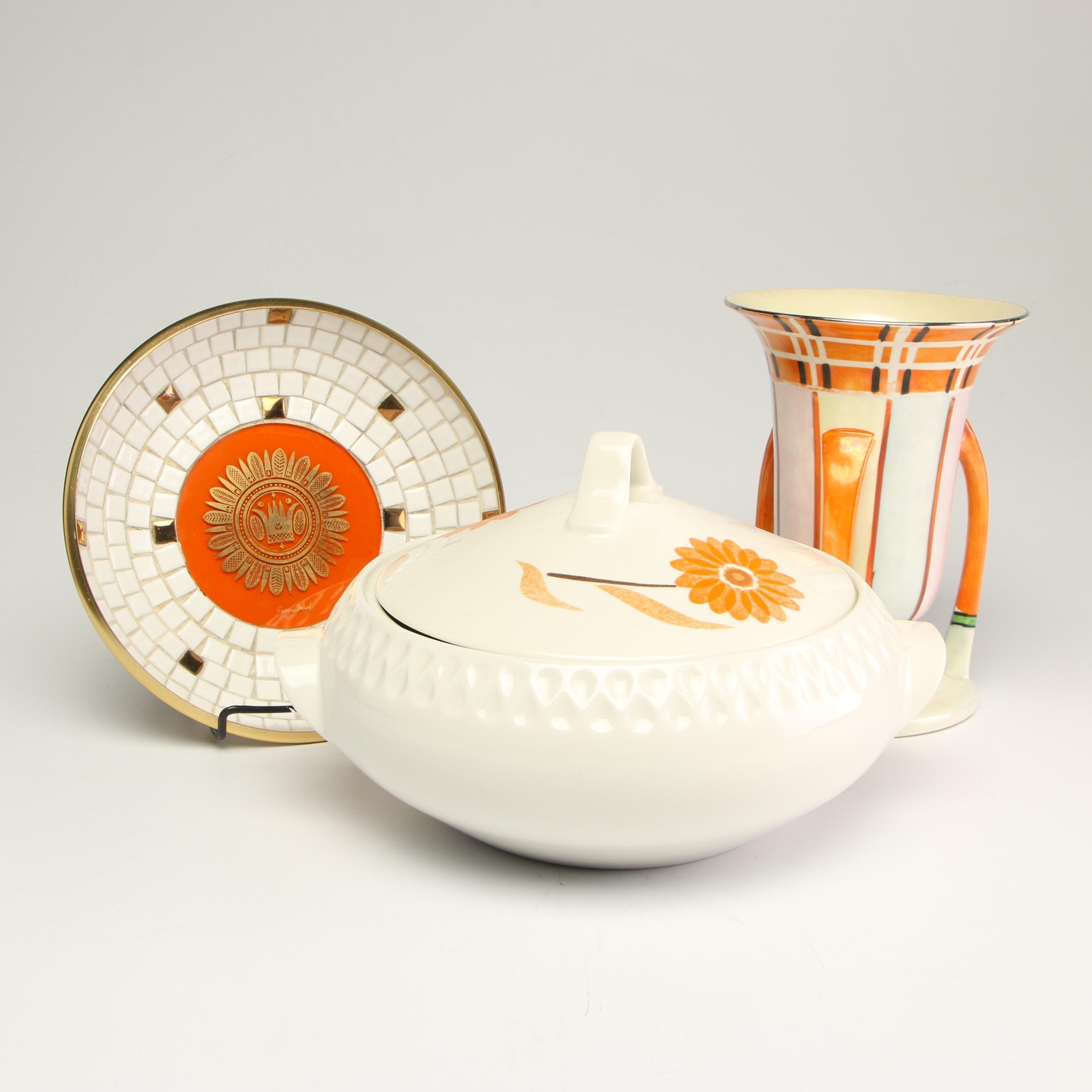 Mid Century Modern Iroquois China Casserole Dish and Other Serveware