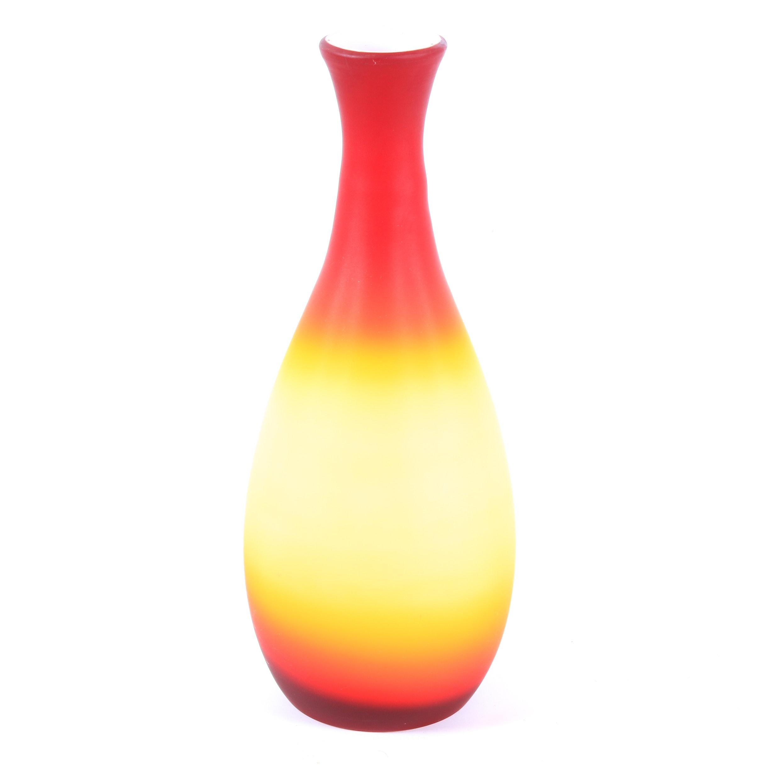 Imperial Peachblow Glass Vase, circa 1868