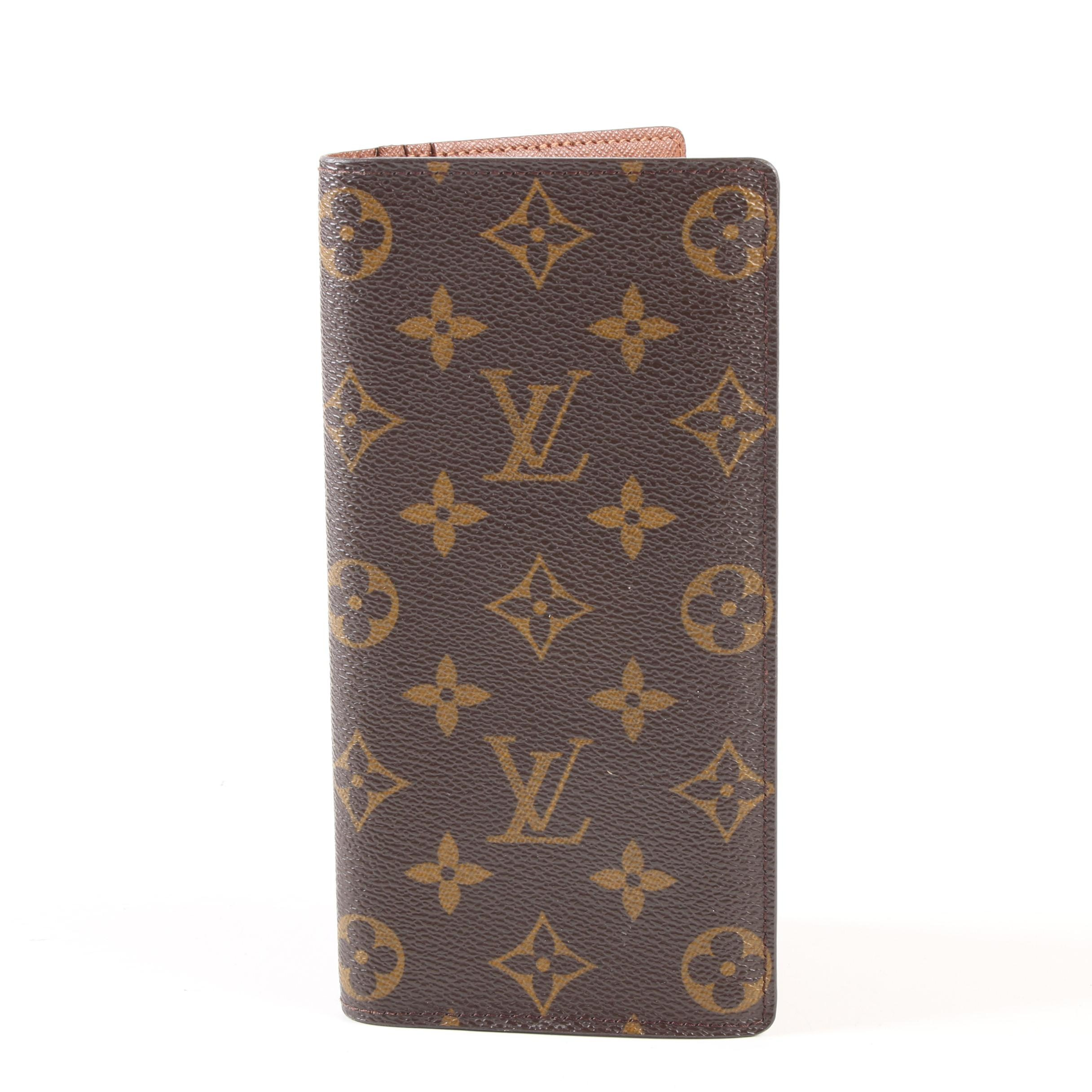 Louis Vuitton Paris Brazza Wallet in Monogram Canvas and Taiga Leather