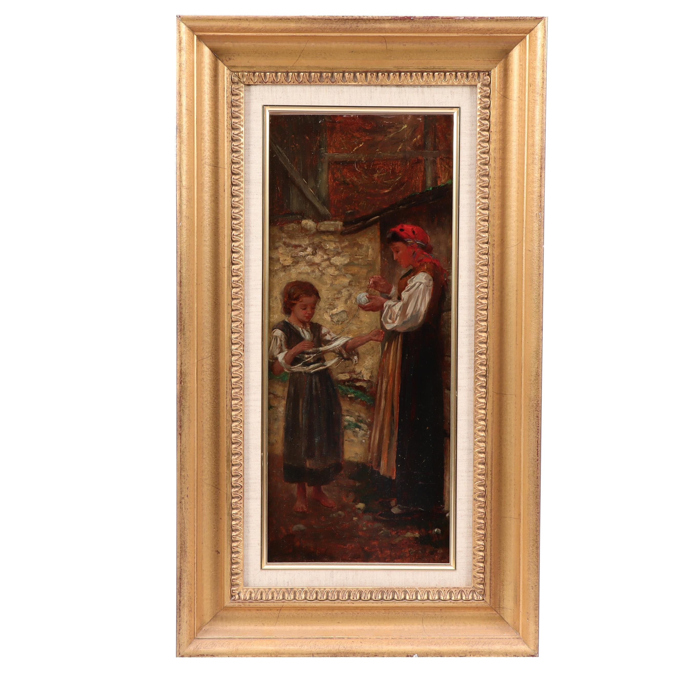 Eugene Benson Oil Painting of Italian Scene