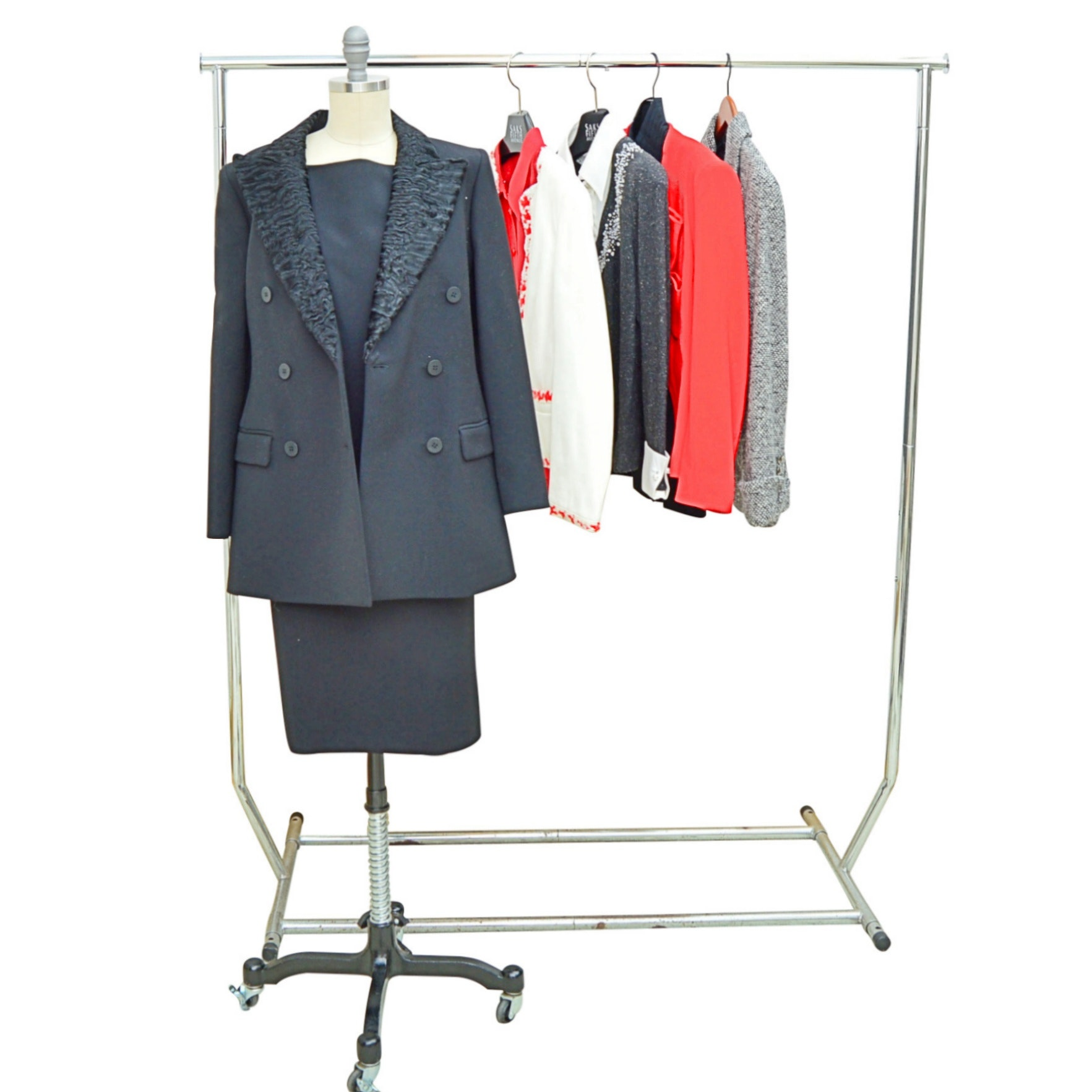 Women's Skirt and Dress Suits with Lambskin Jacket, Escada, Akris punto