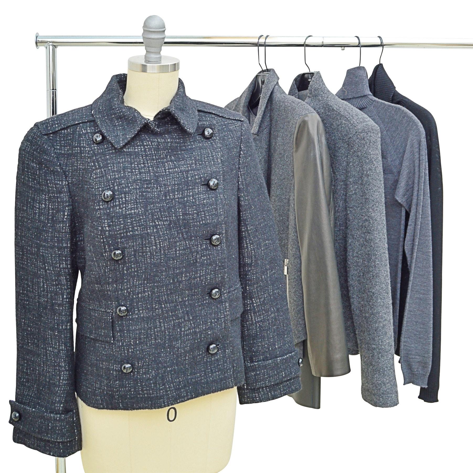 Women's Wool Jackets and Sweaters with Akris, Michael Kors, TSE