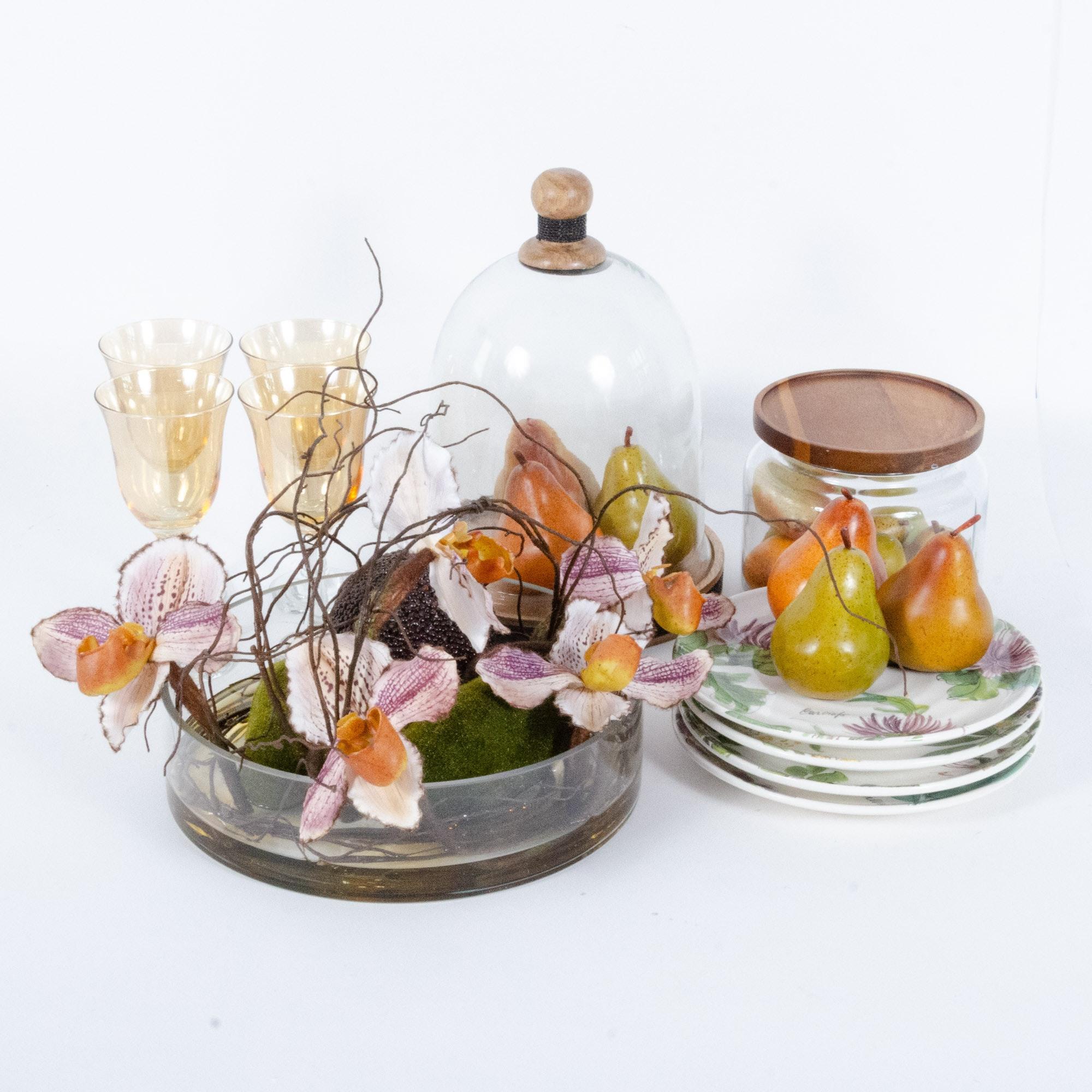 Dining Centerpieces, Stemware and Decor