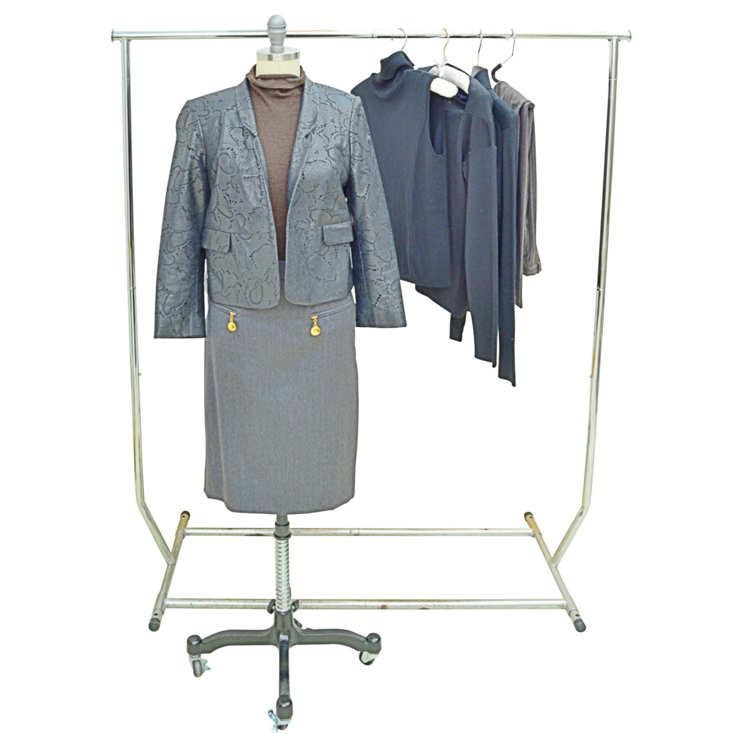 Women's Separates with Leather Jacket, Akris Punto, Piazza Sempione, Valentino