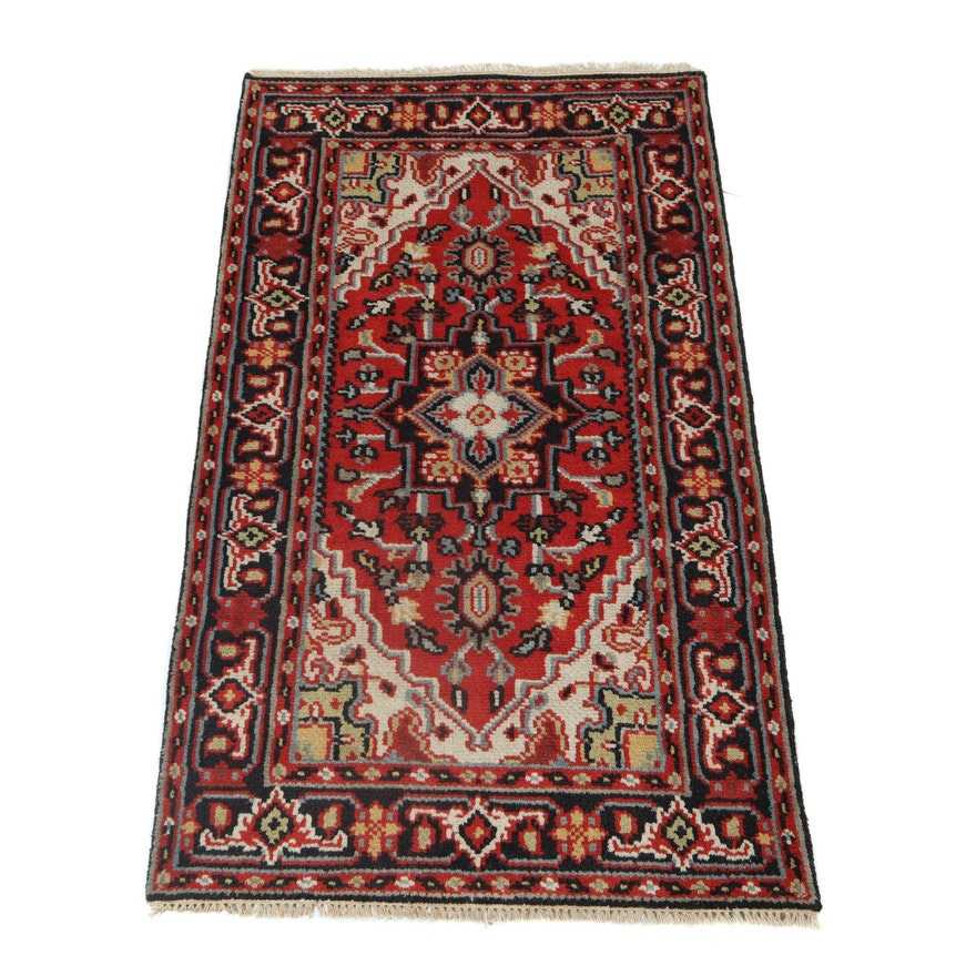 3' x 5.1' Hand-Knotted Indo-Persian Heriz Wool Rug