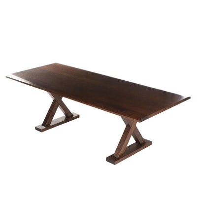 Christrian Liaigre at Holly Hunt Walnut Courrier Dining Table, Circa 1990