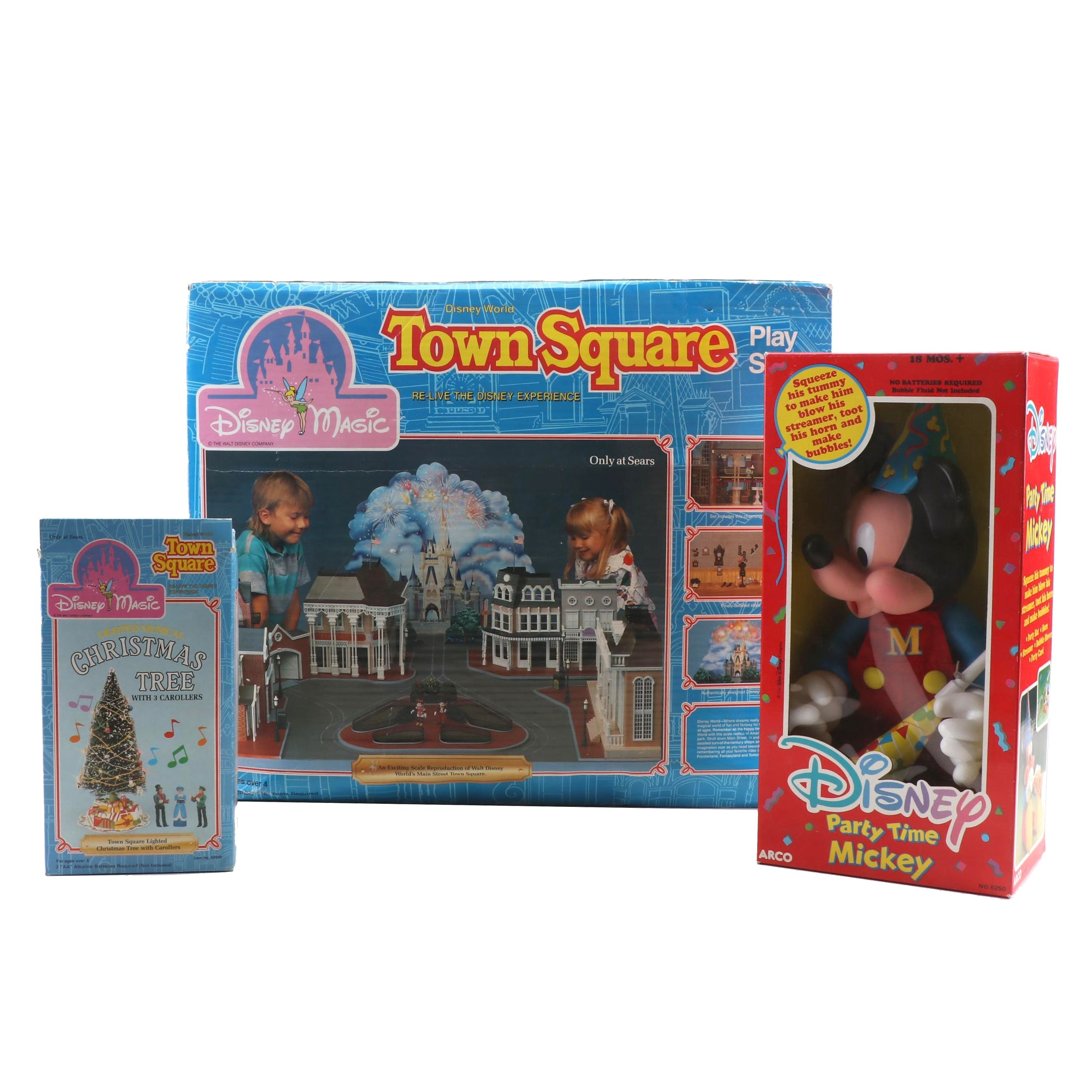 Mickey Mouse and Disney World Town Square Toys