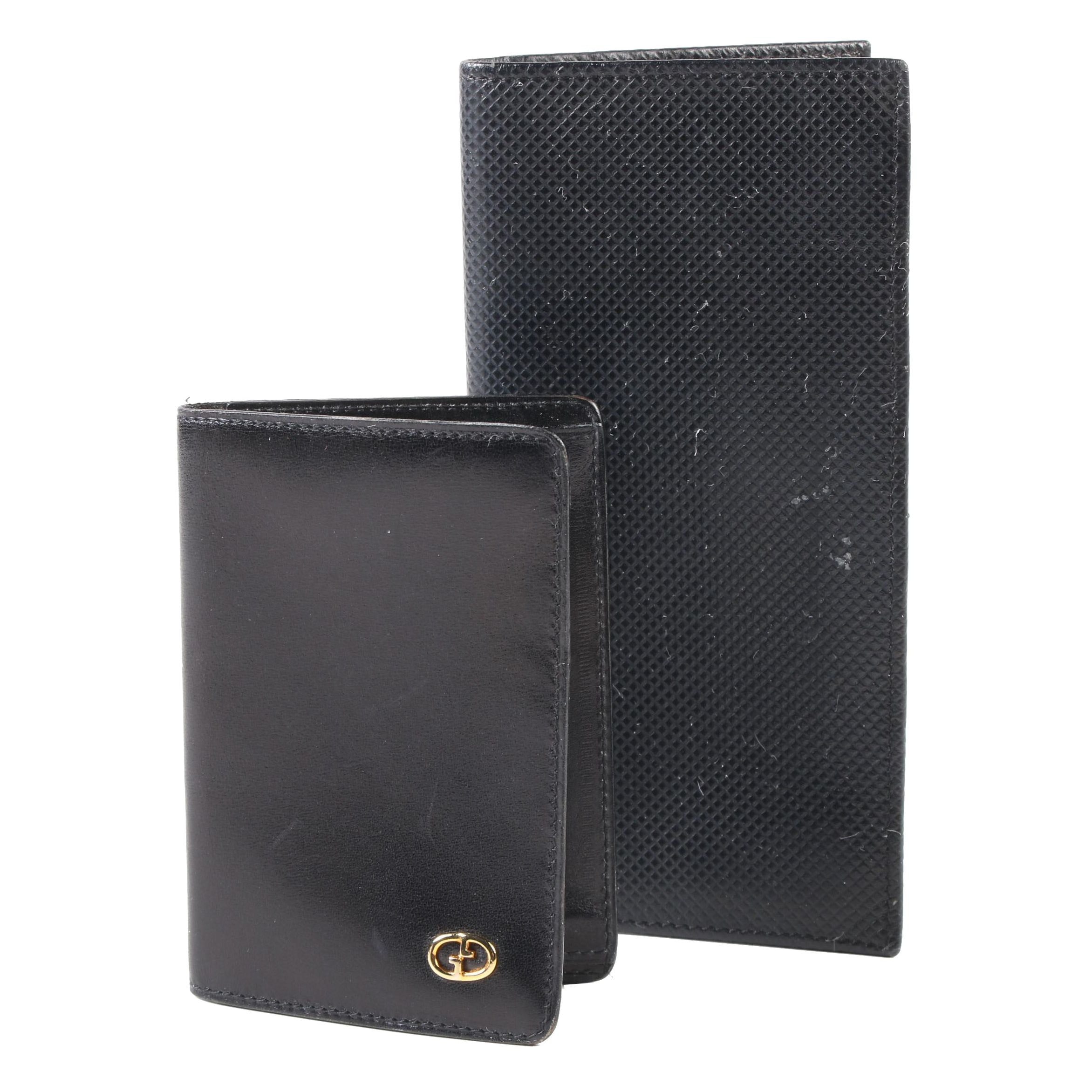 Gucci Card Case with Neiman Marcus Collection Bifold in Black Leather