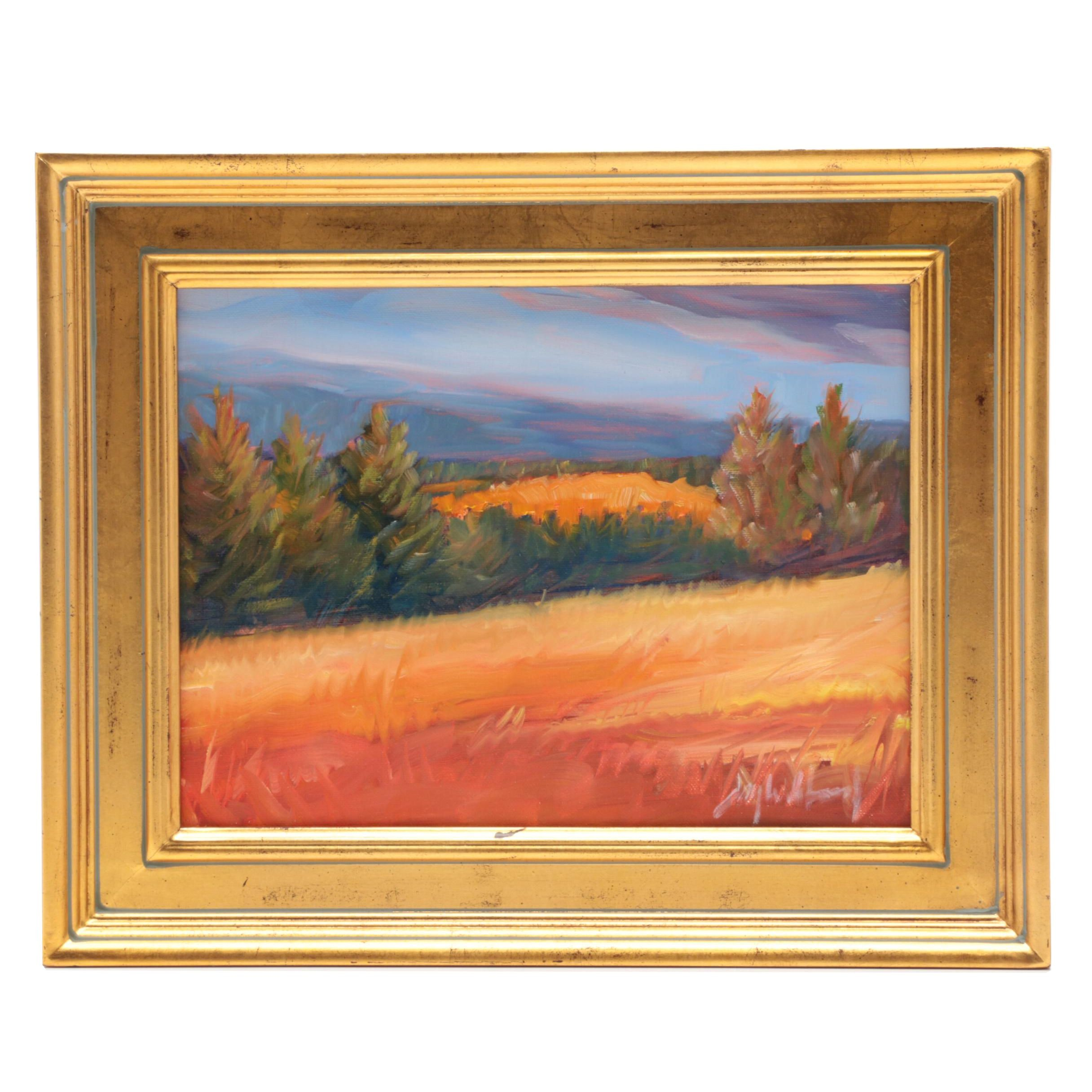 "Jay Wilford Oil Painting ""High Pasture"""