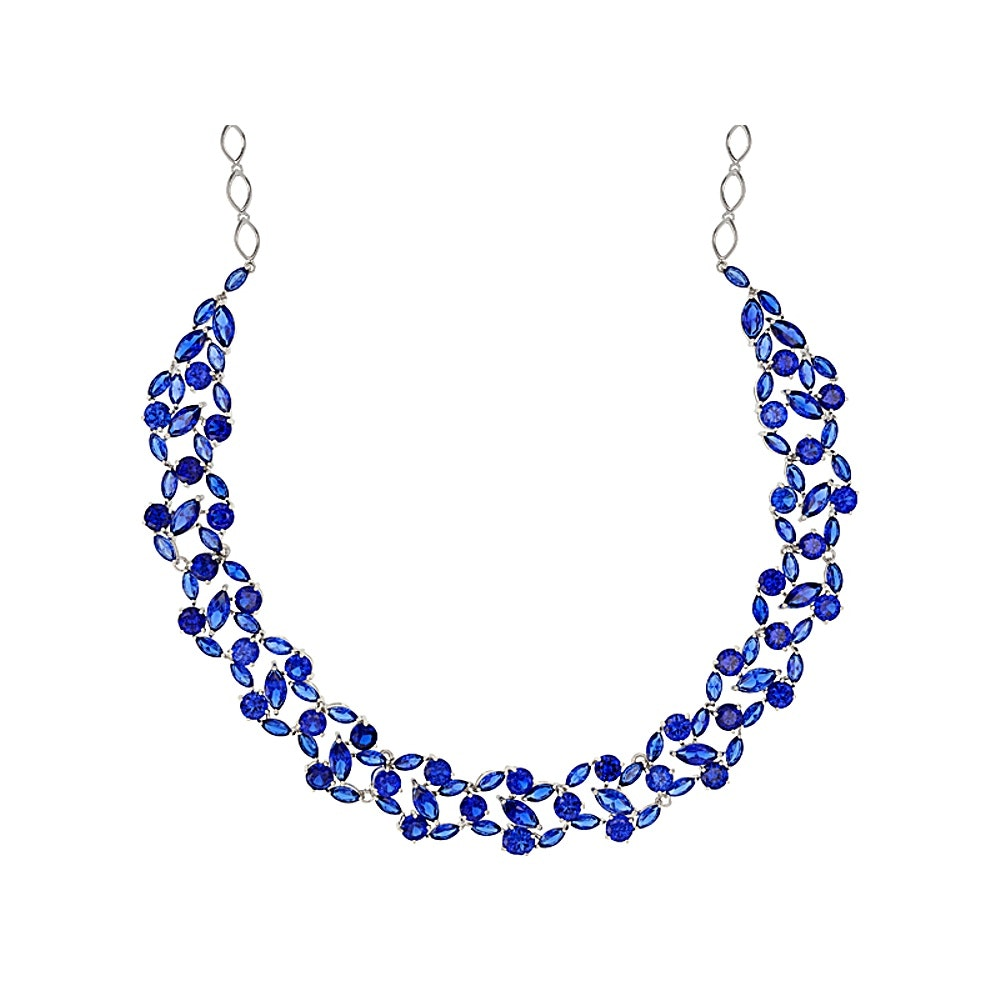 Sterling Silver Synthetic Spinel Necklace
