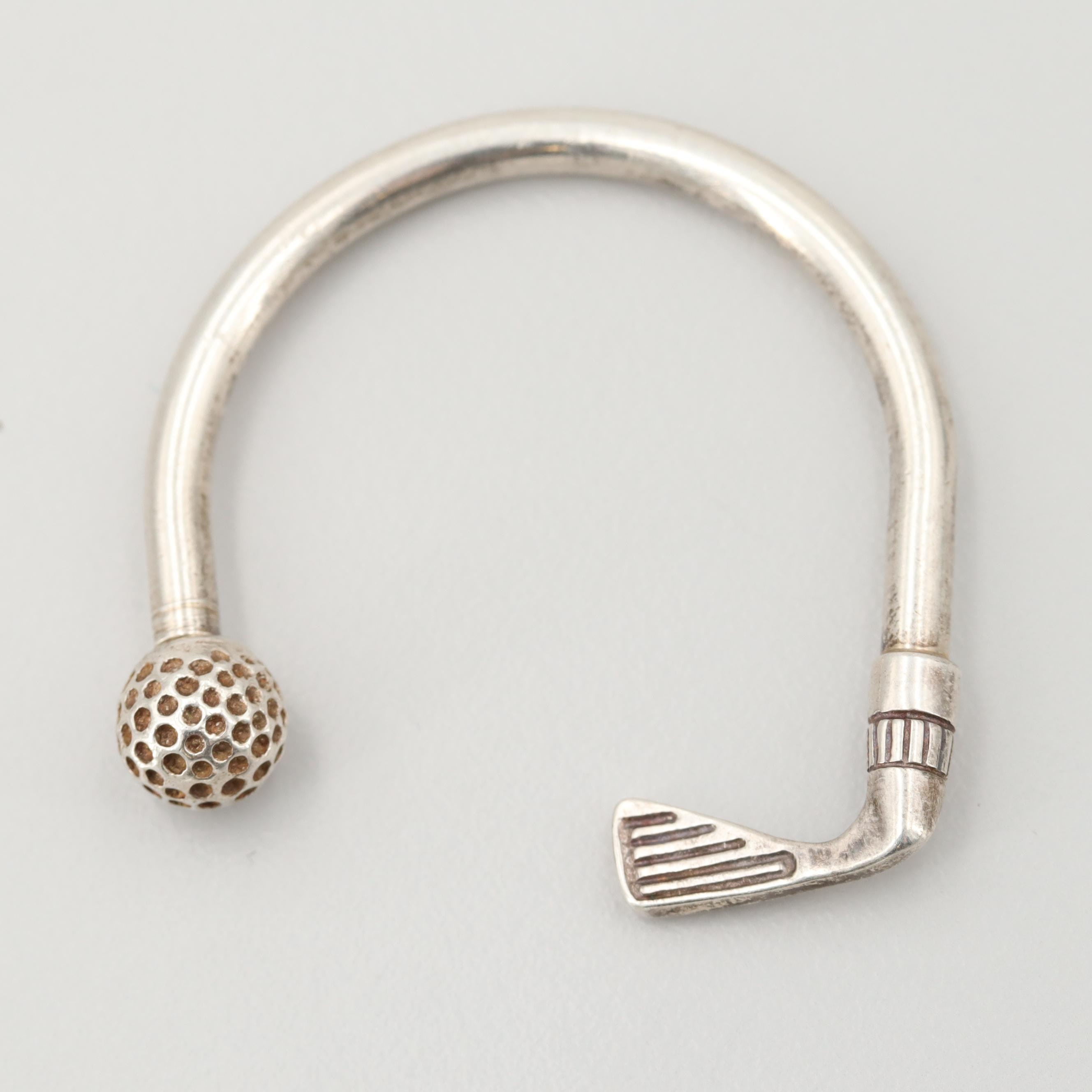 Sterling Silver Golf Club Key Ring