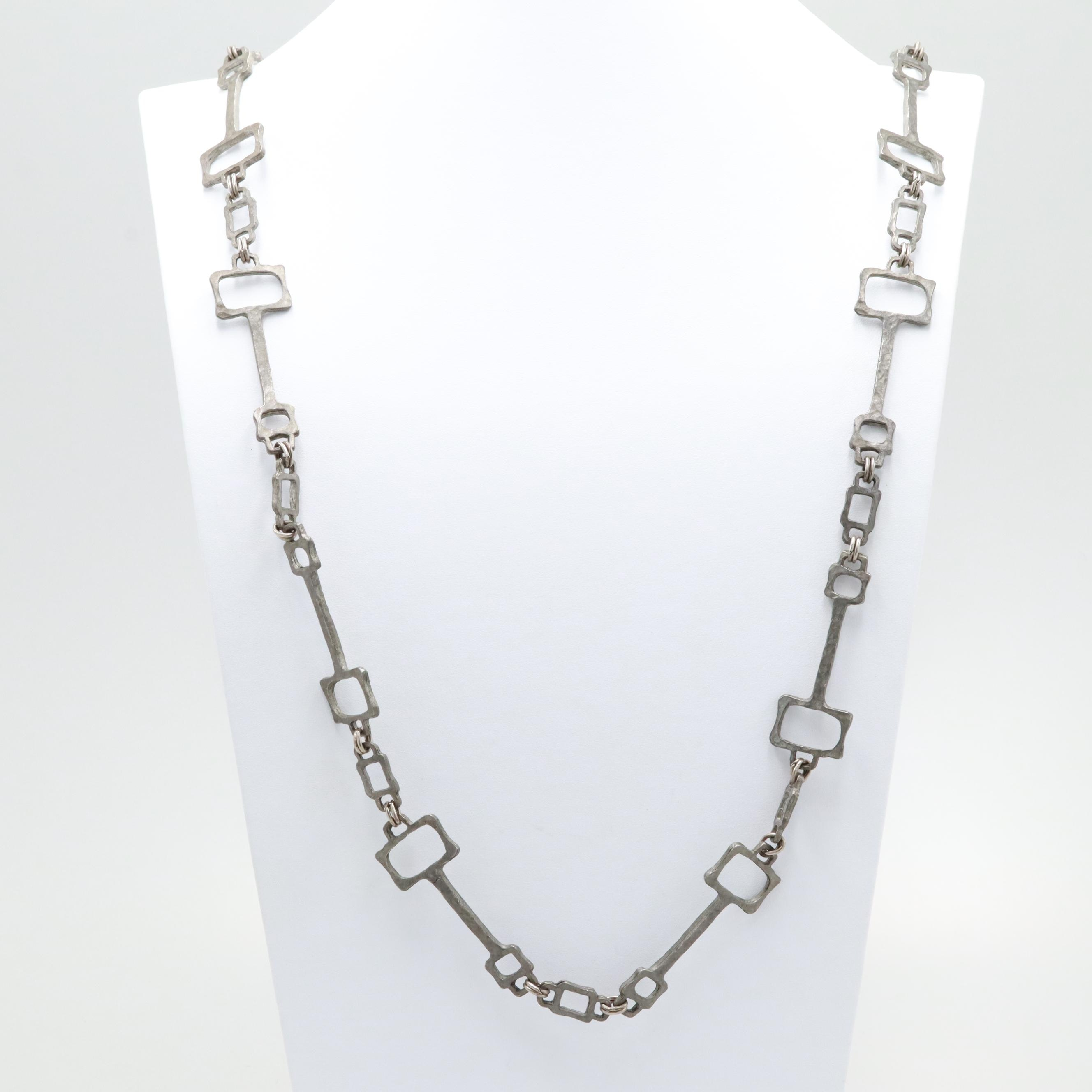 Brutalist Style Linked Necklace