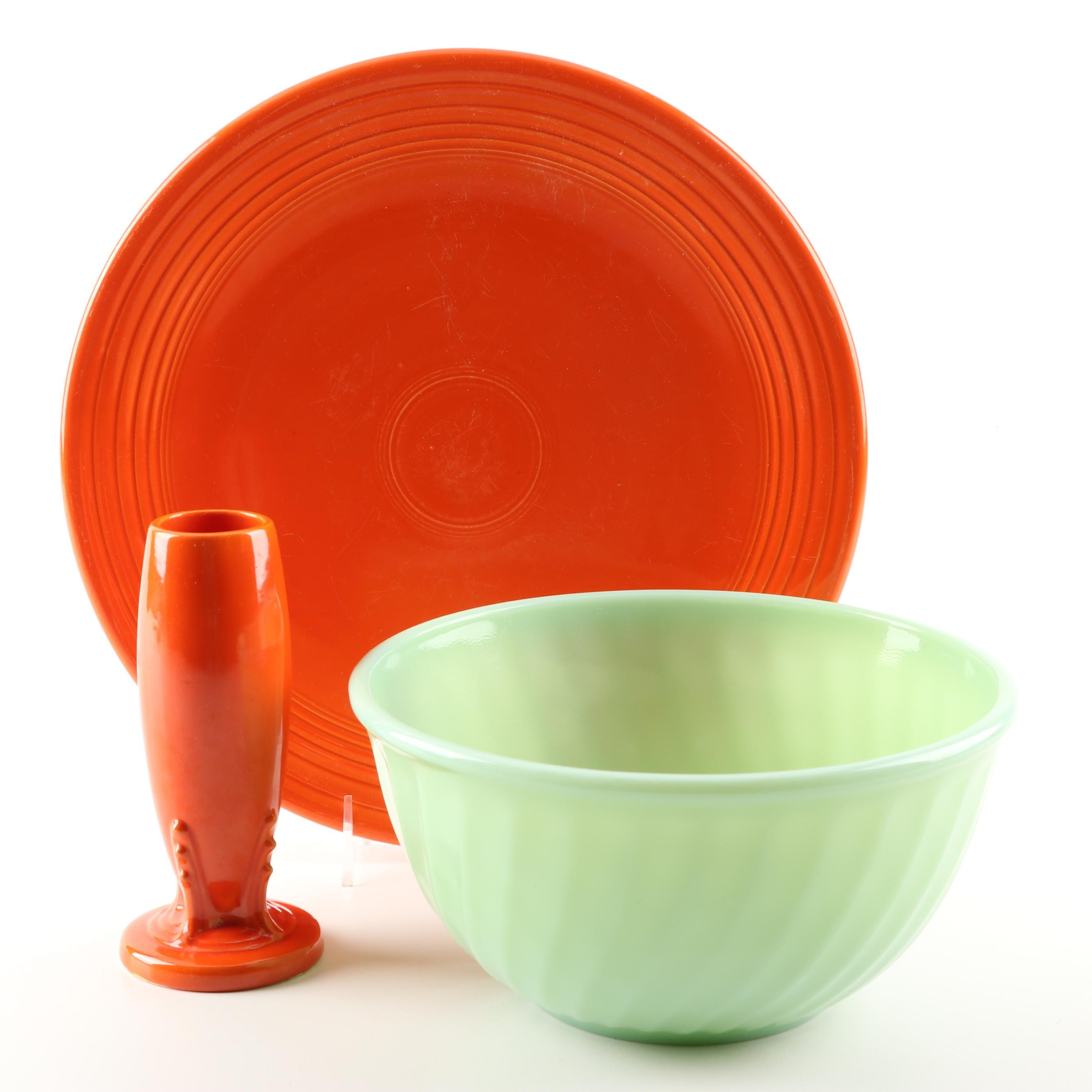 "Homer Laughlin ""Fiesta"" and Fire King ""Jadeite"" Kitchenware"