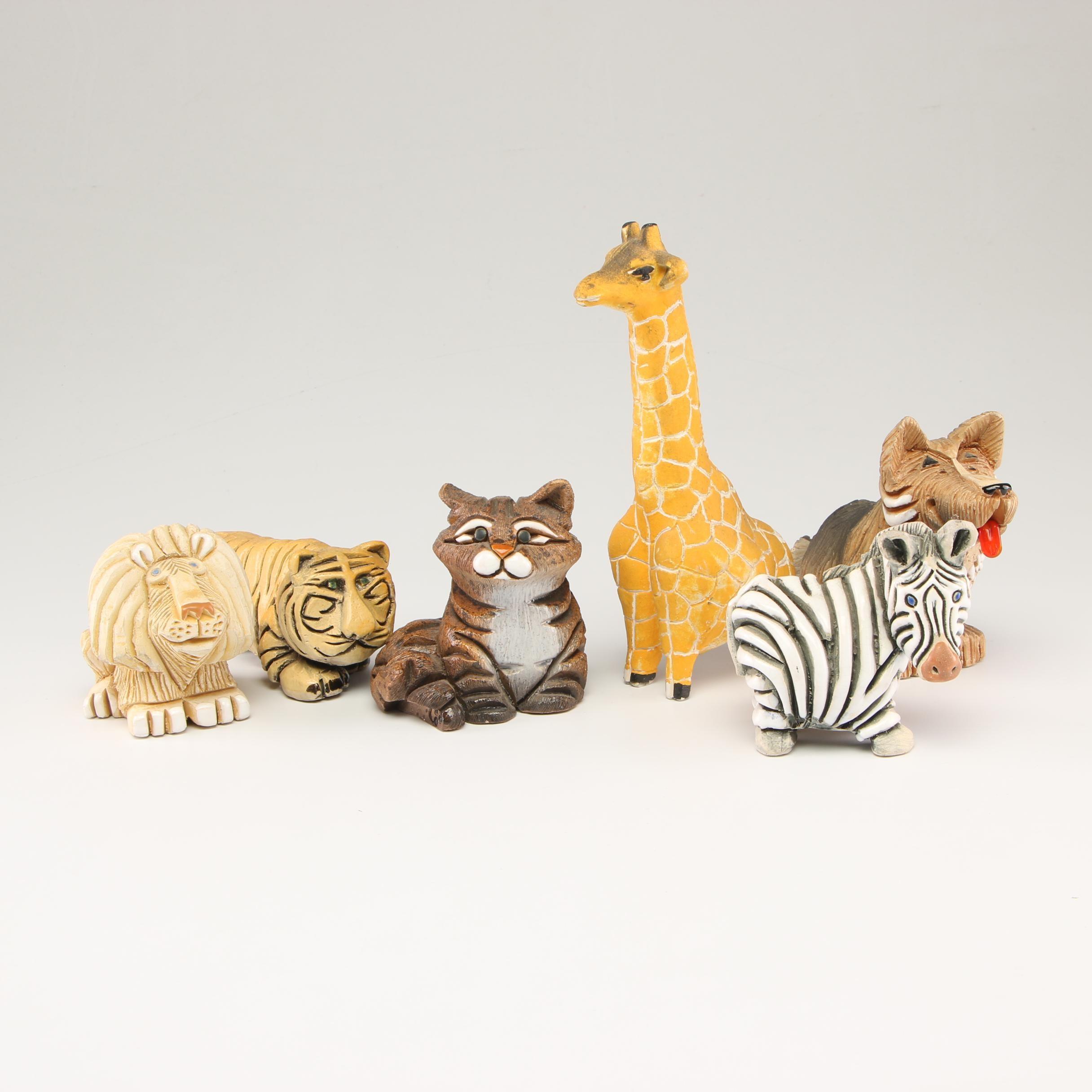 Embellished Resin Animal Figurines