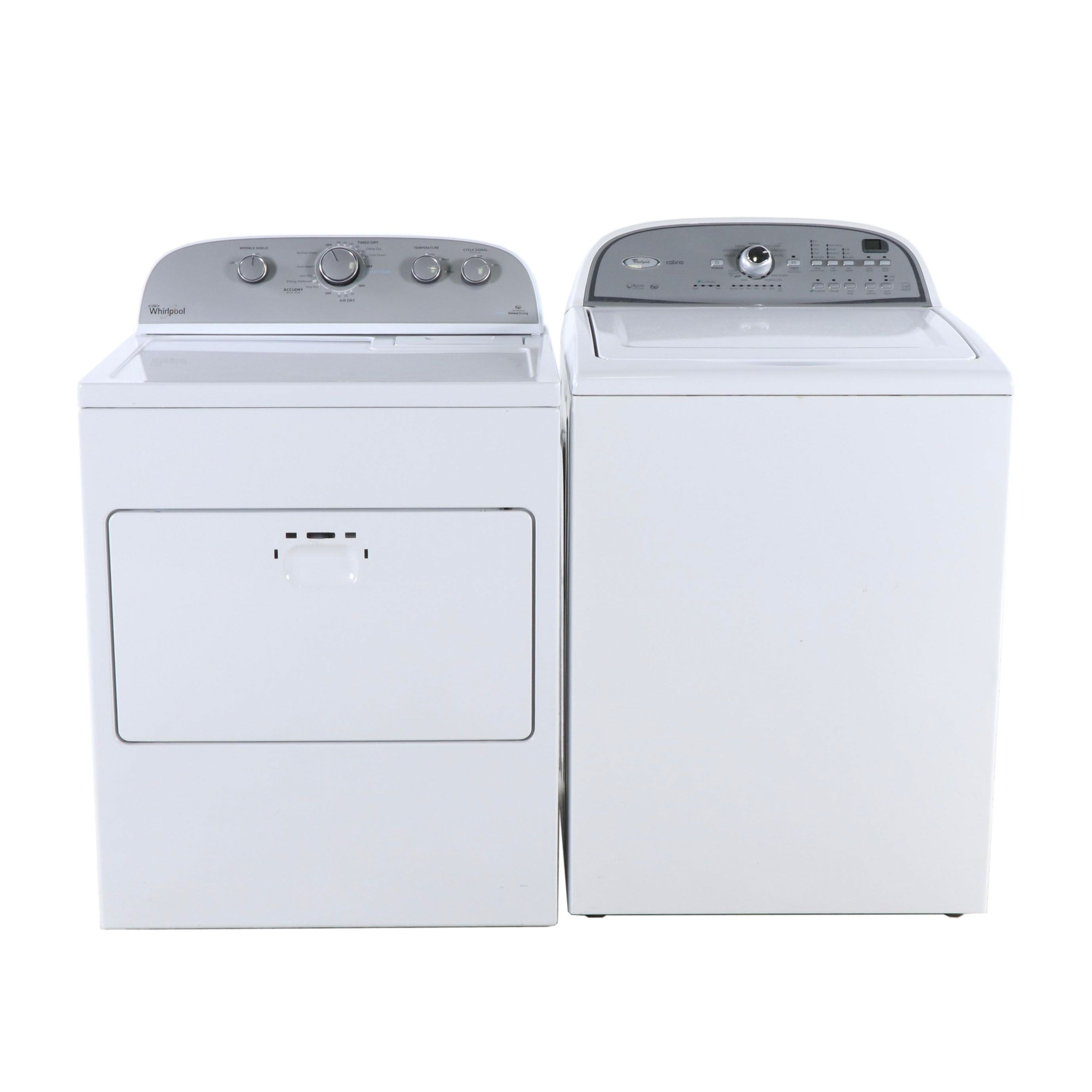 Whirlpool HE Cabrio Washer and HE Steam Sensor Dryer