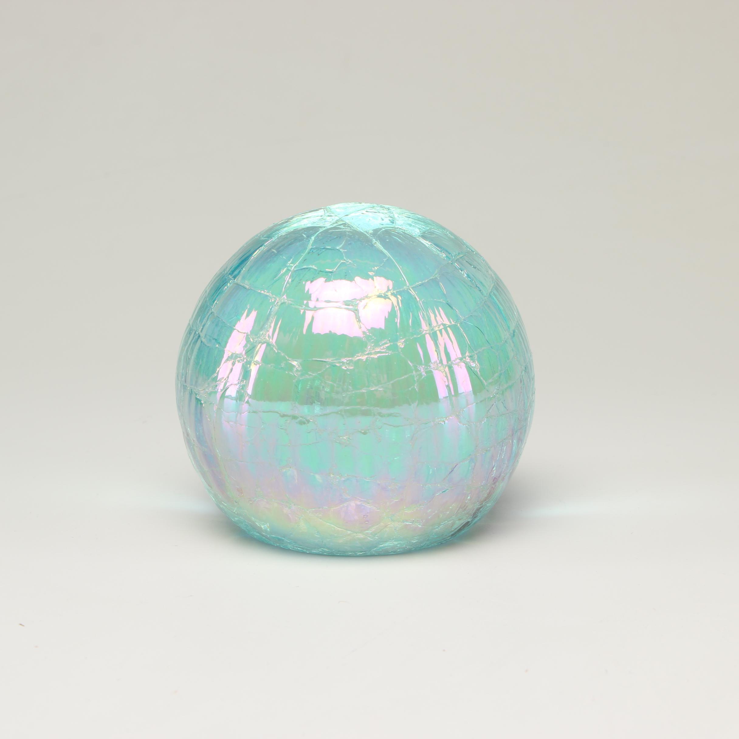 Ornamental Blown Glass Company Iridescent Paperweight