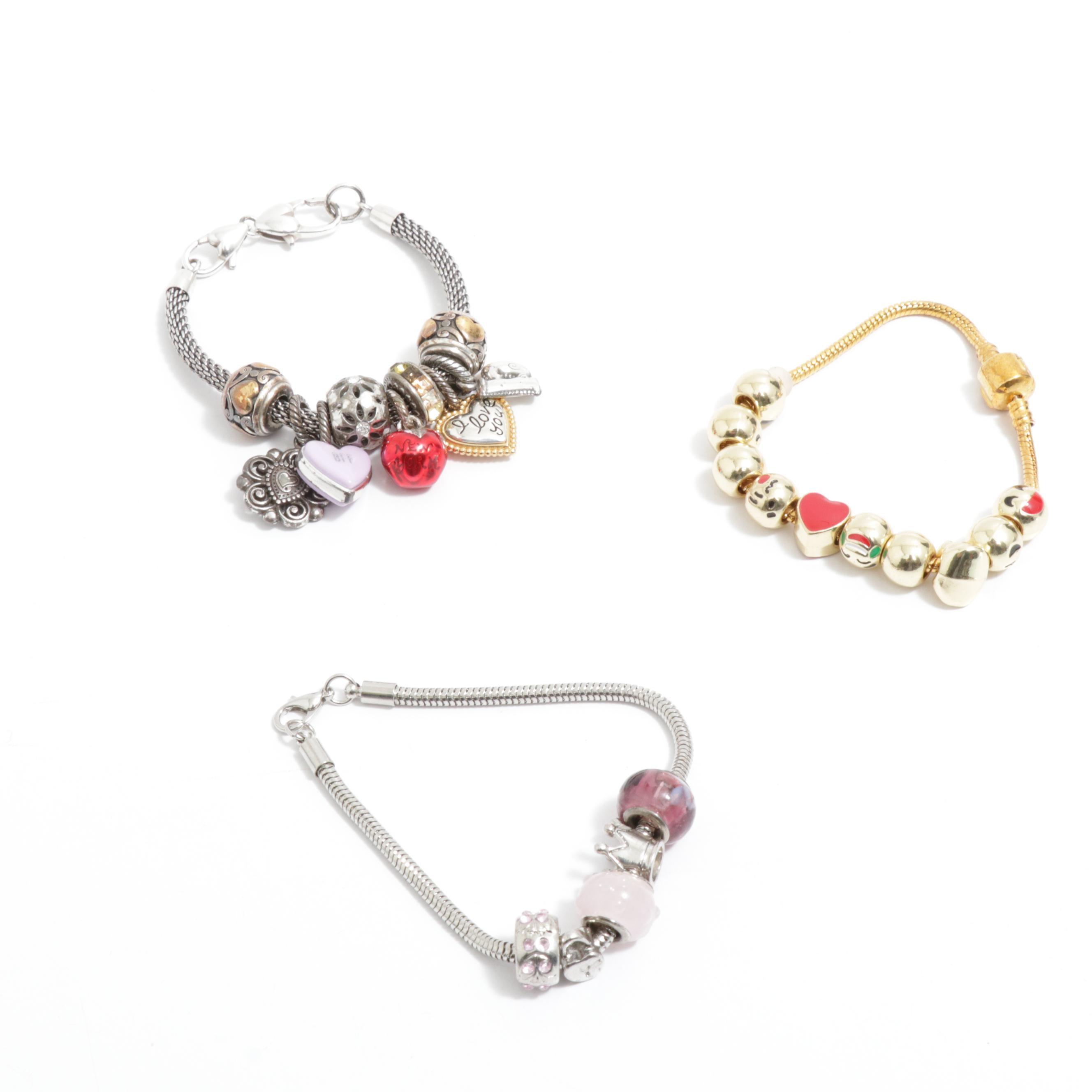 Beaded Charm Bracelets including Manbara