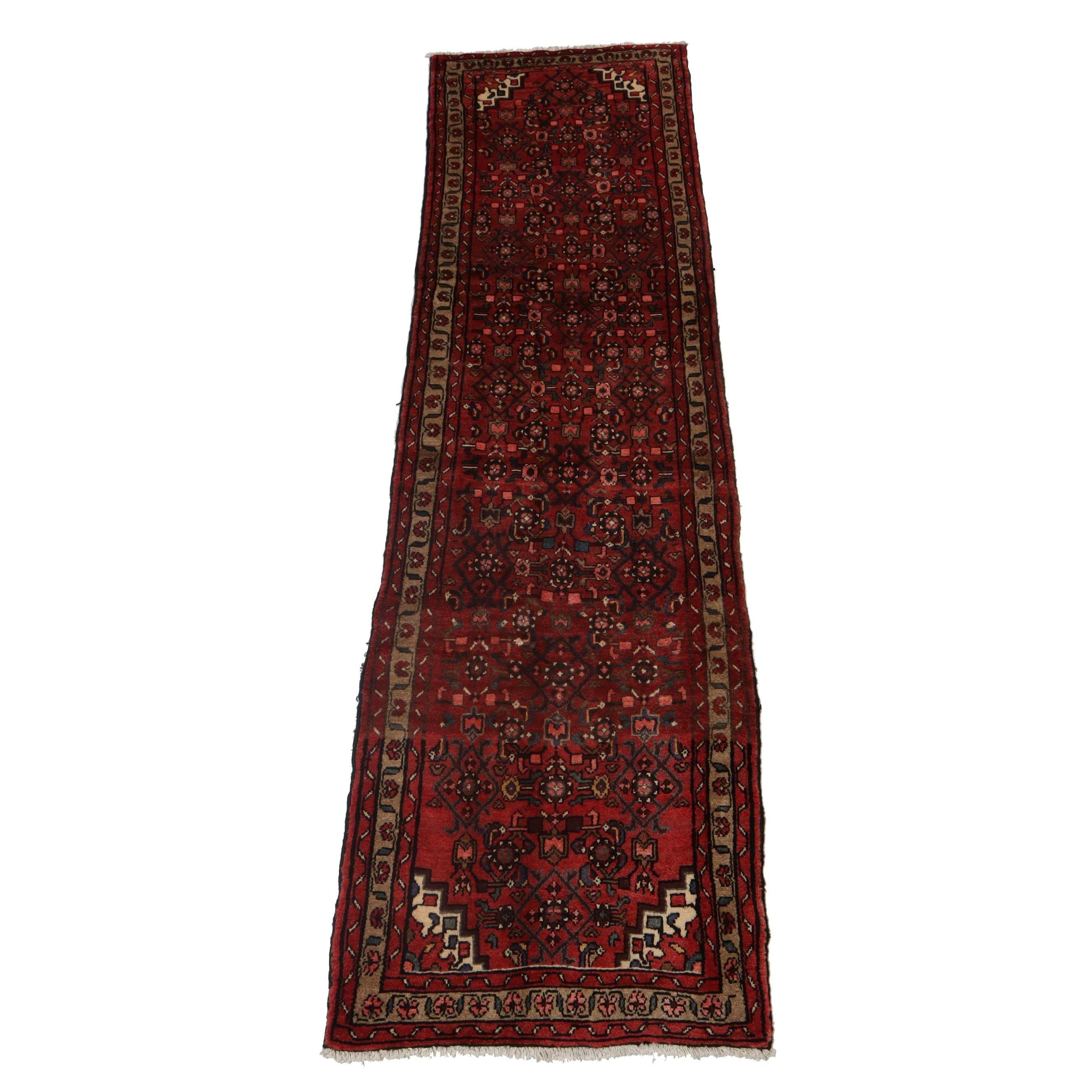 2'11 x 9'10 Hand-Knotted Persian Bibikabad Wool Carpet, Circa 1960