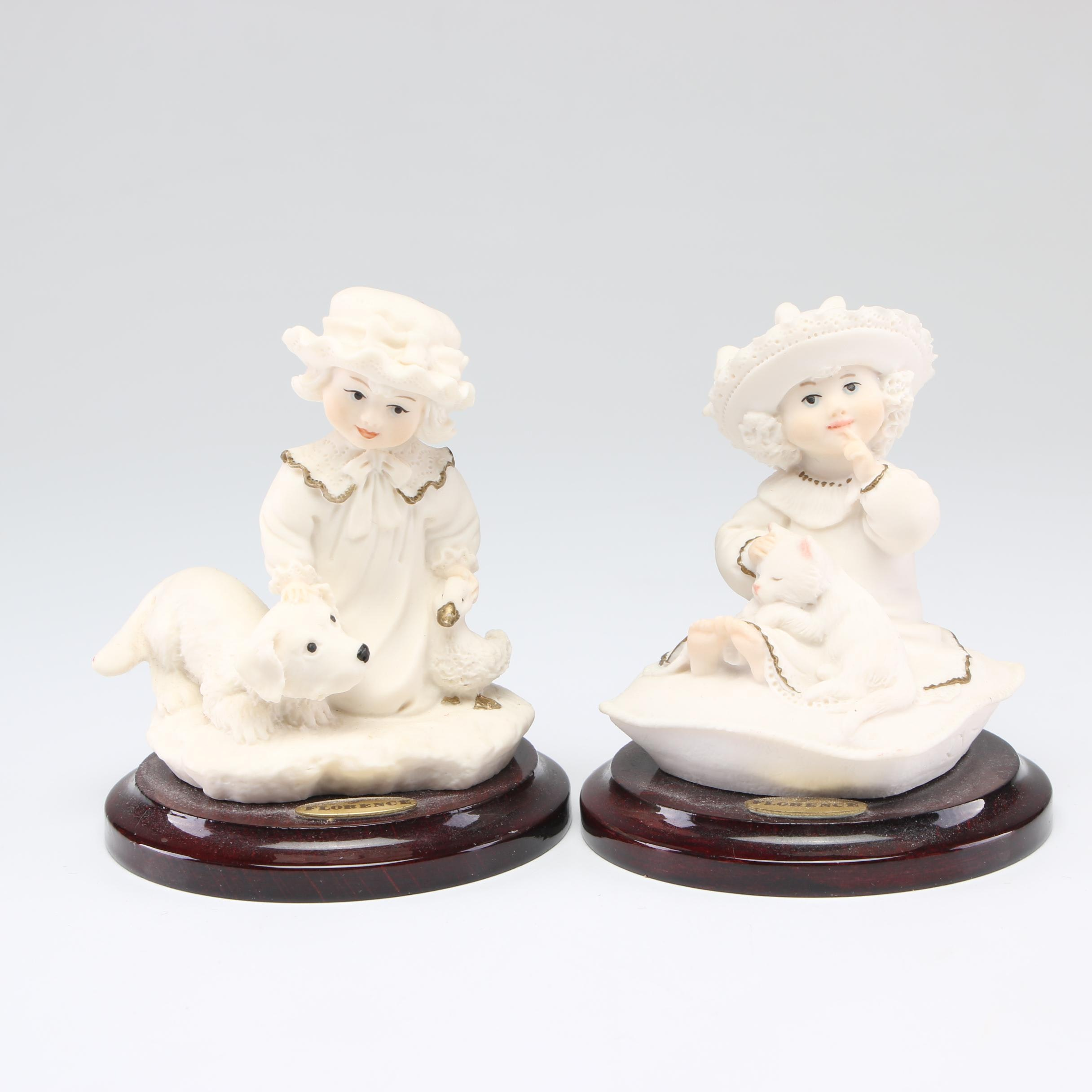 "Capodimonte ""Puppy Love"" Figurine and Other Porcelain Figurine"
