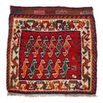 Hand-Knotted Qashqai Shiraz Wool Bag Face
