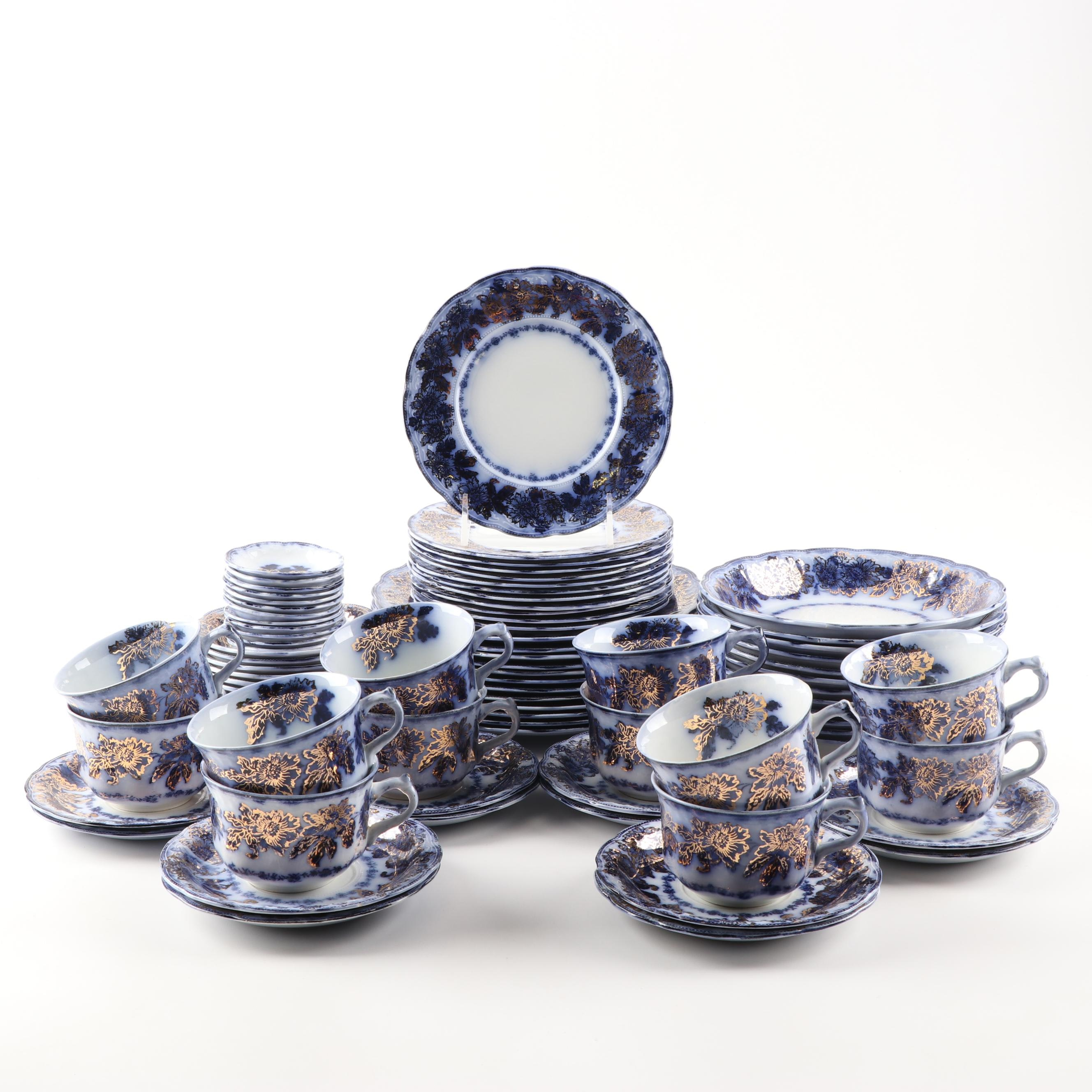 "New Wharf ""Sevres"" Porcelain Dinner Service"