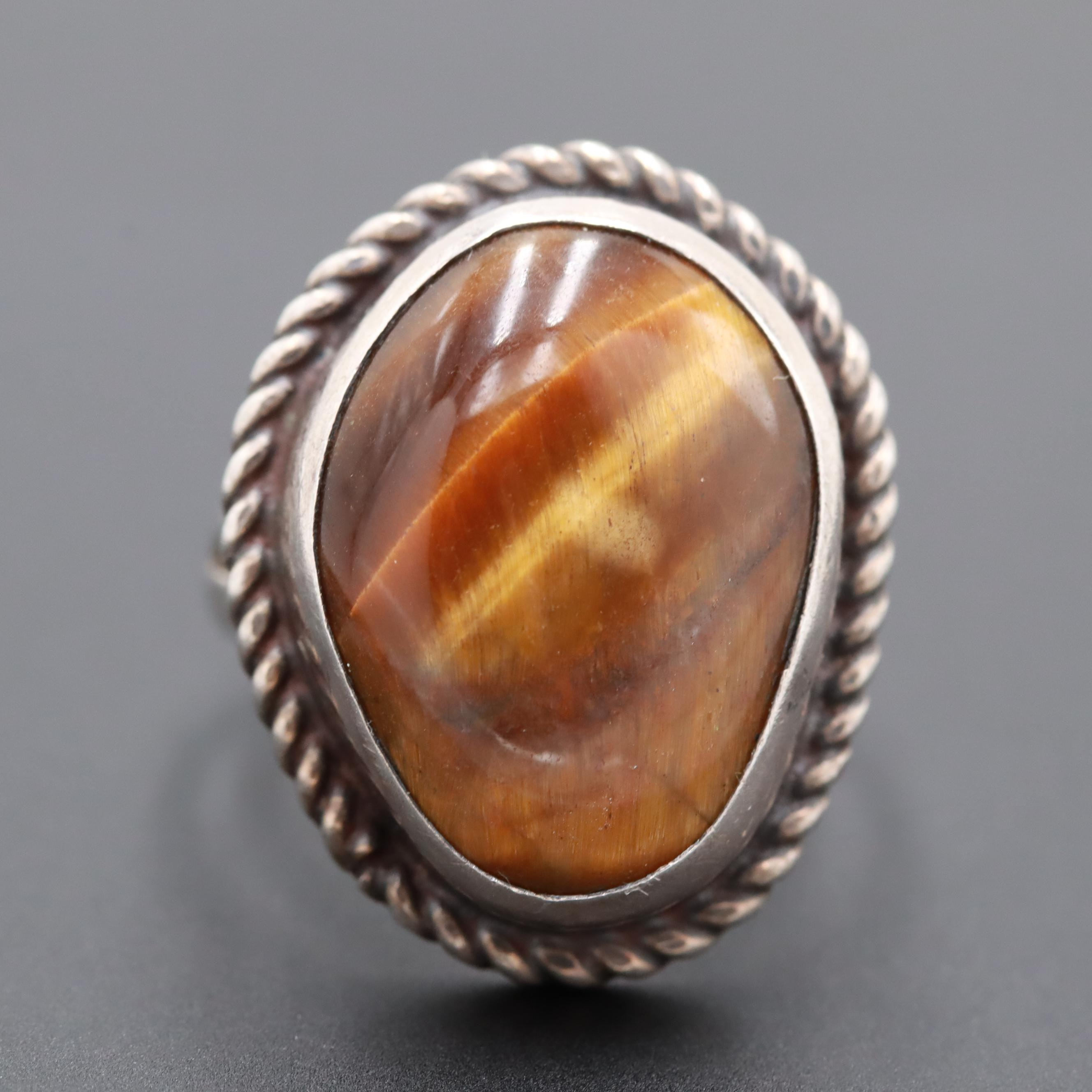Mexican Sterling Silver Tiger's Eye Ring
